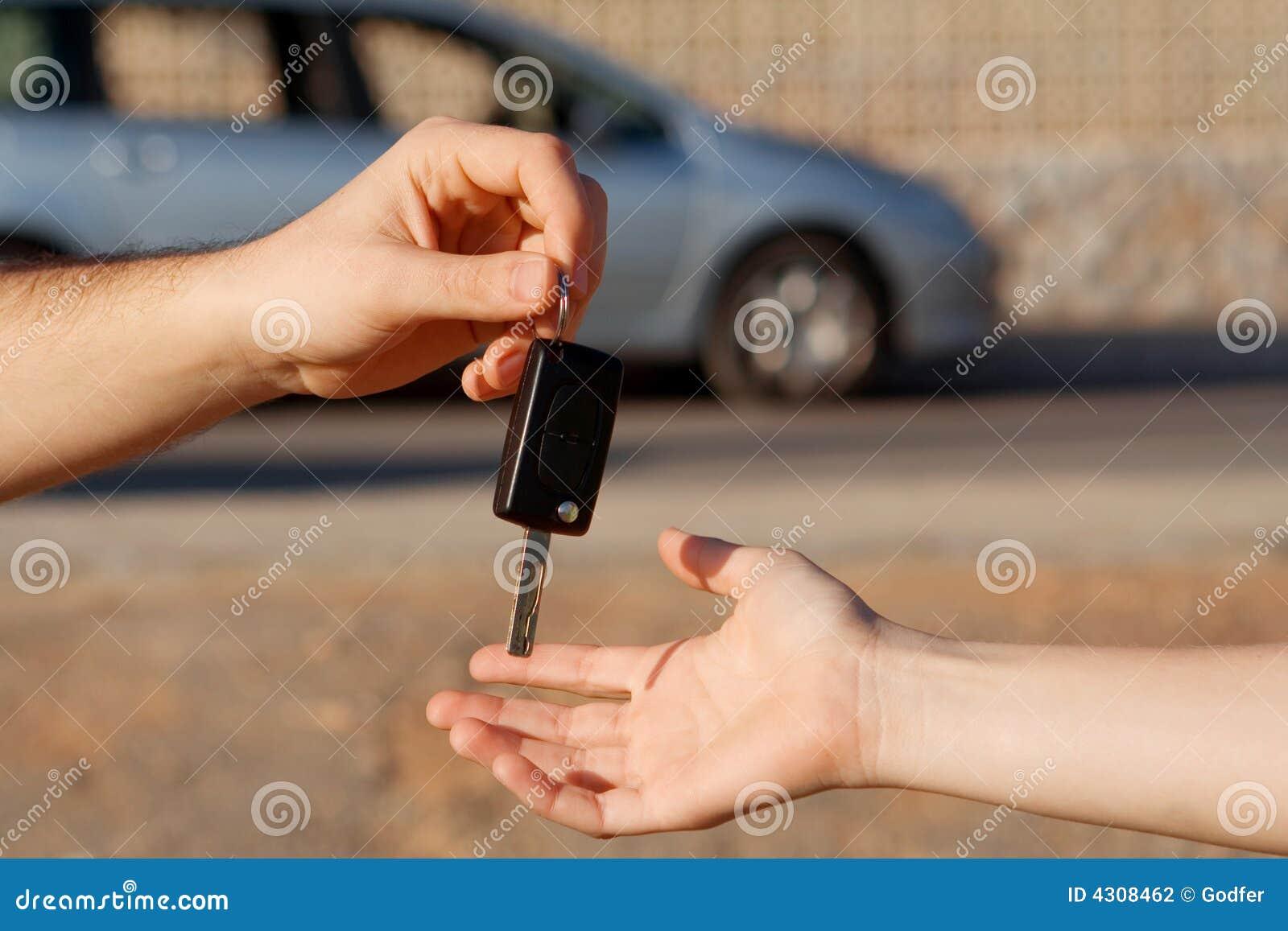 Buying new car, passing key