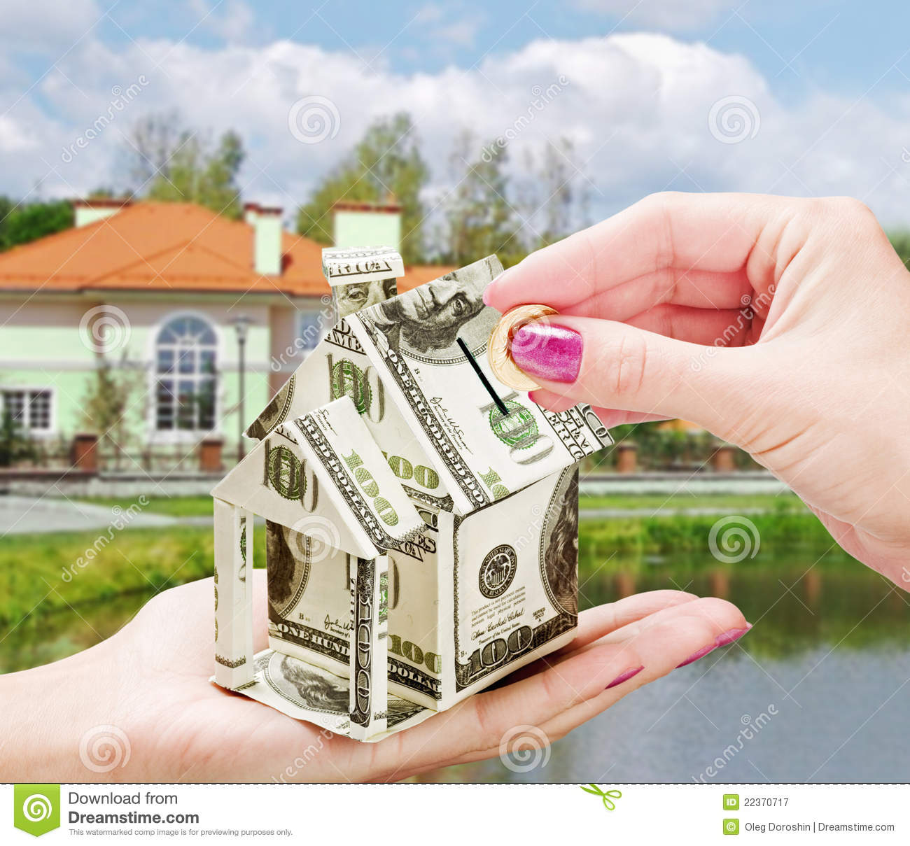 Purchasing A New Home buying a new home royalty free stock photography - image: 22370717