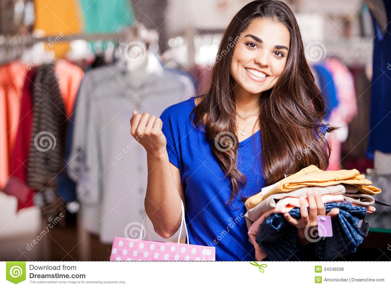 buying a new outfit for tonight stock photo  image of