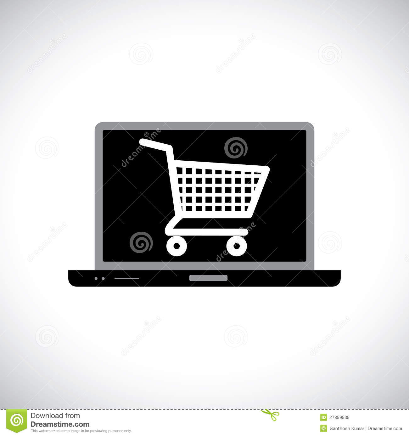 Buying or shopping online using computer