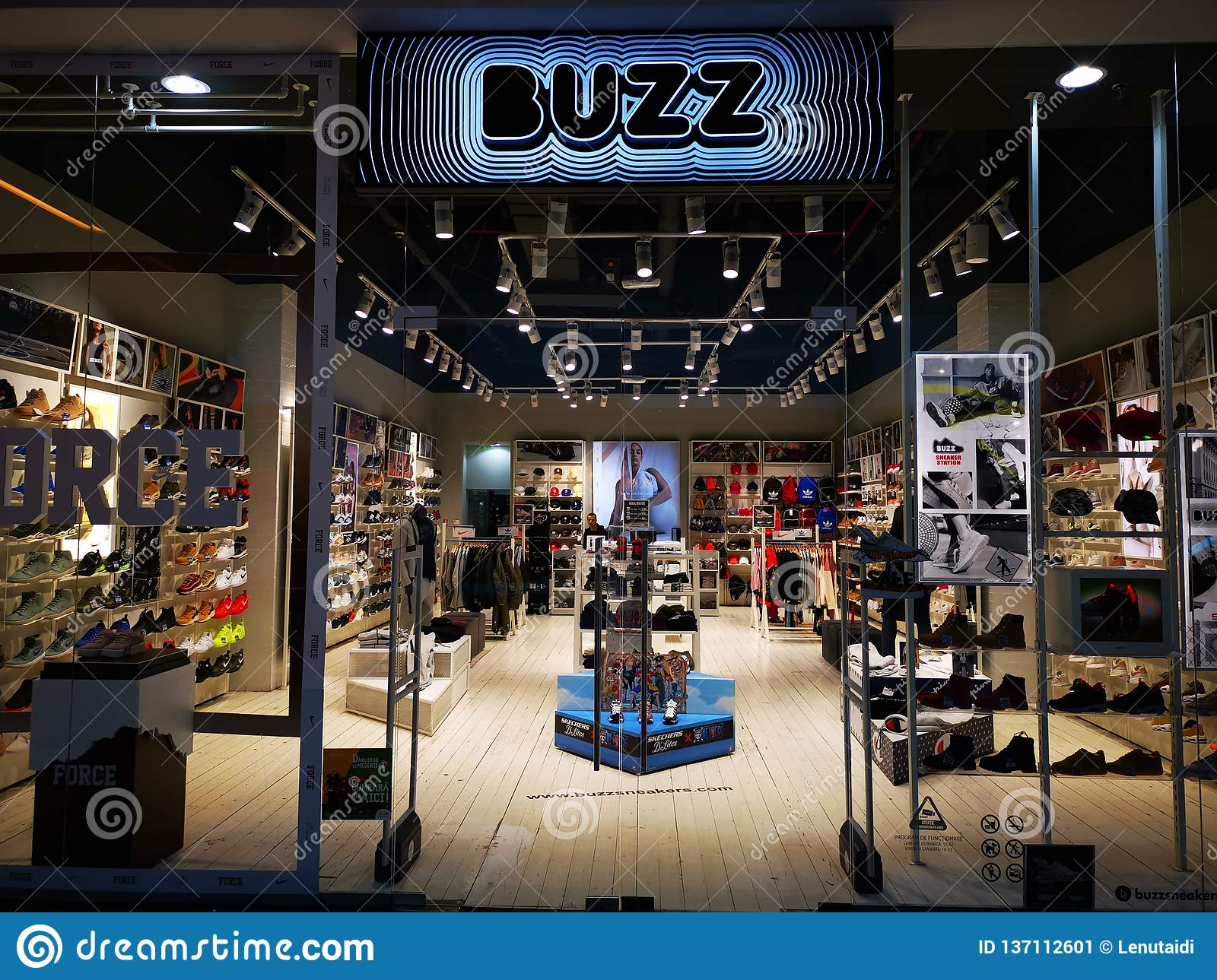 BUZZ store in the mall at AFI Palace Cotroceni, Romania