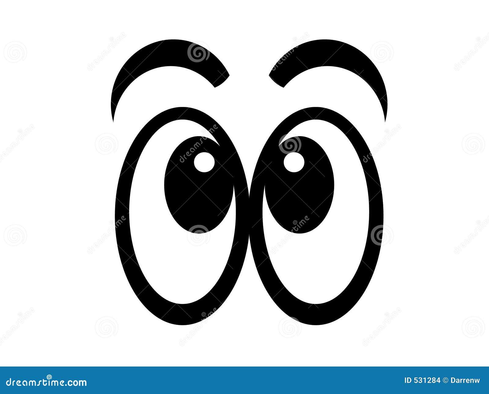 Bw cómico dos olhos