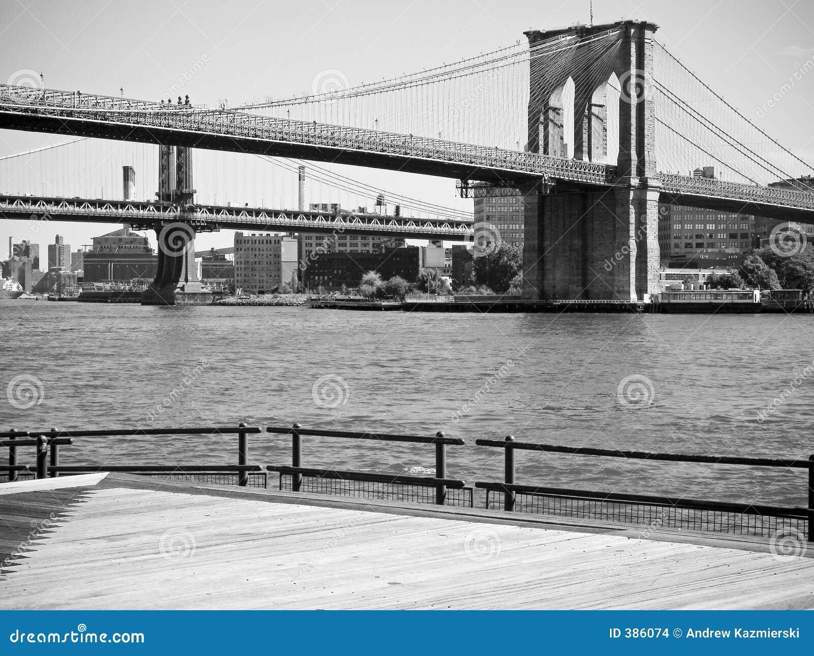 BW del ponte di Brooklyn