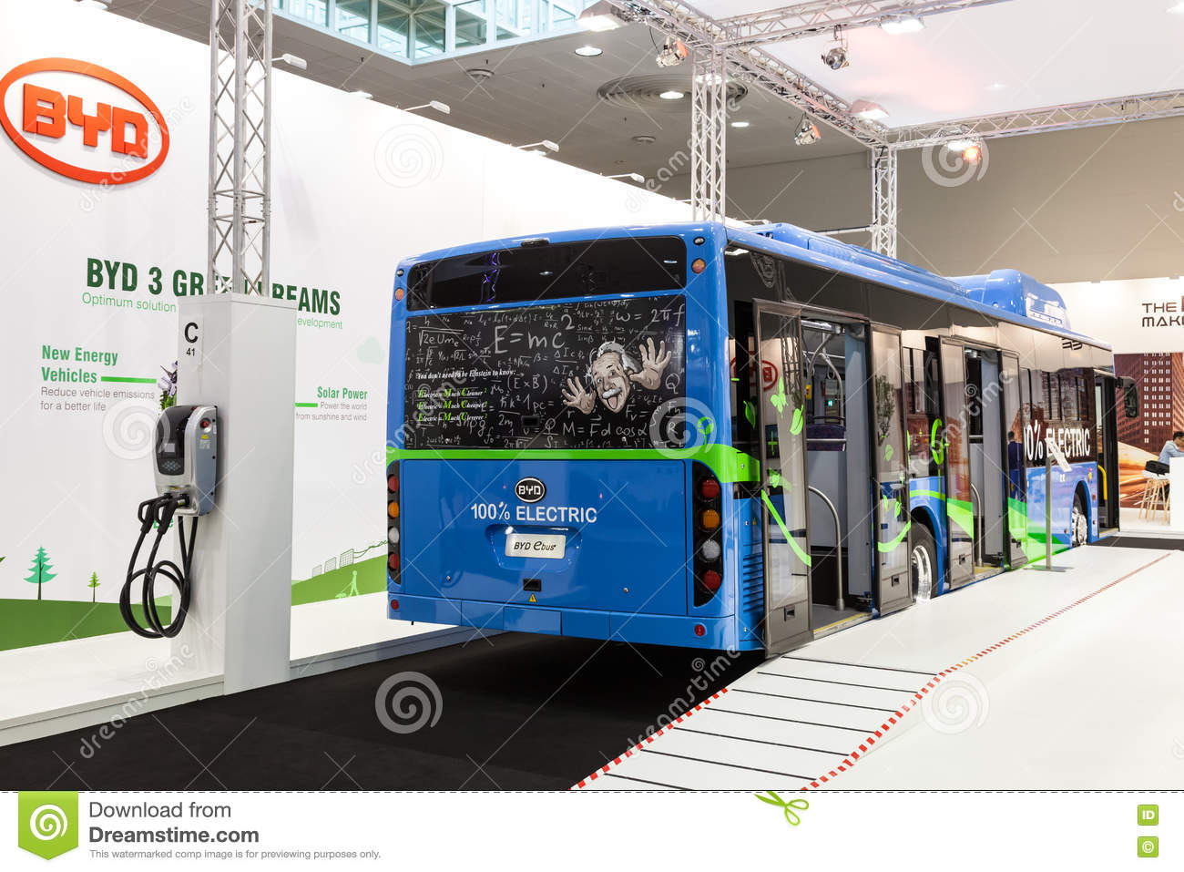 92c09950dd BYD electric bus editorial stock image. Image of vehicle - 77798384