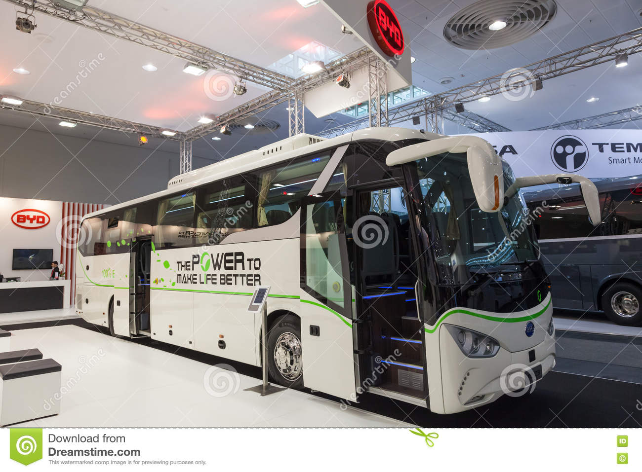 2e6a27891a BYD electric bus editorial photography. Image of logistics - 77798397