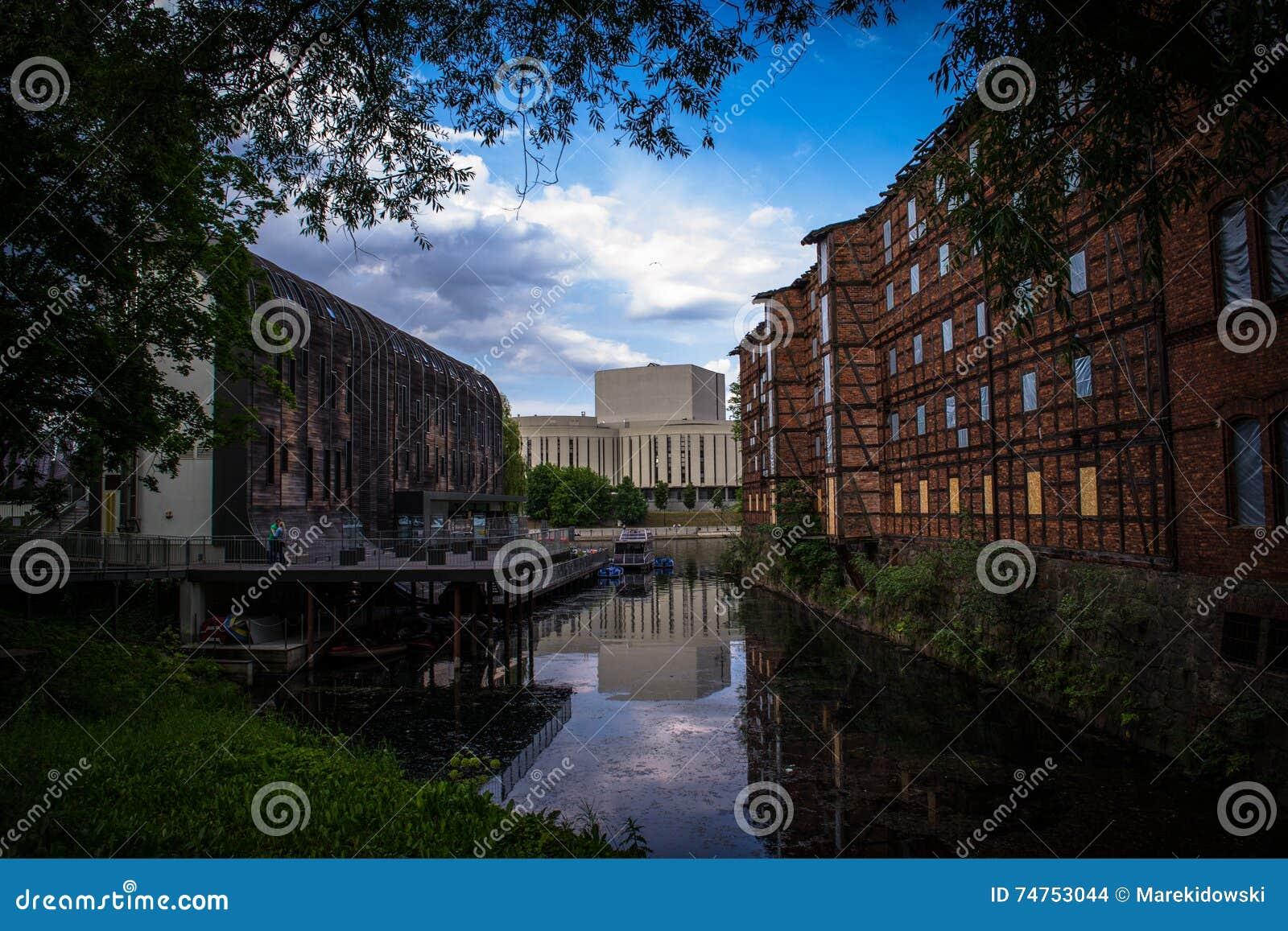 Bydgoszcz - σκοτεινό πανόραμα της πόλης