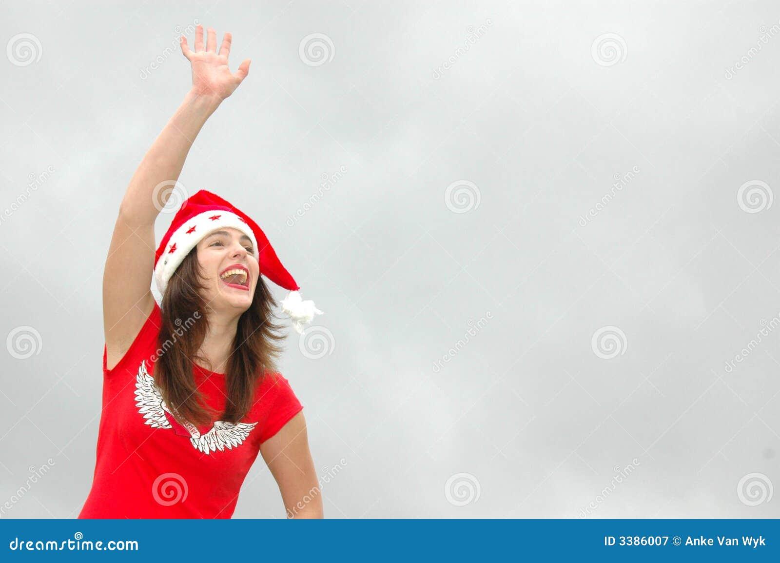 Bye, bye christmas time! stock image. Image of girls ...