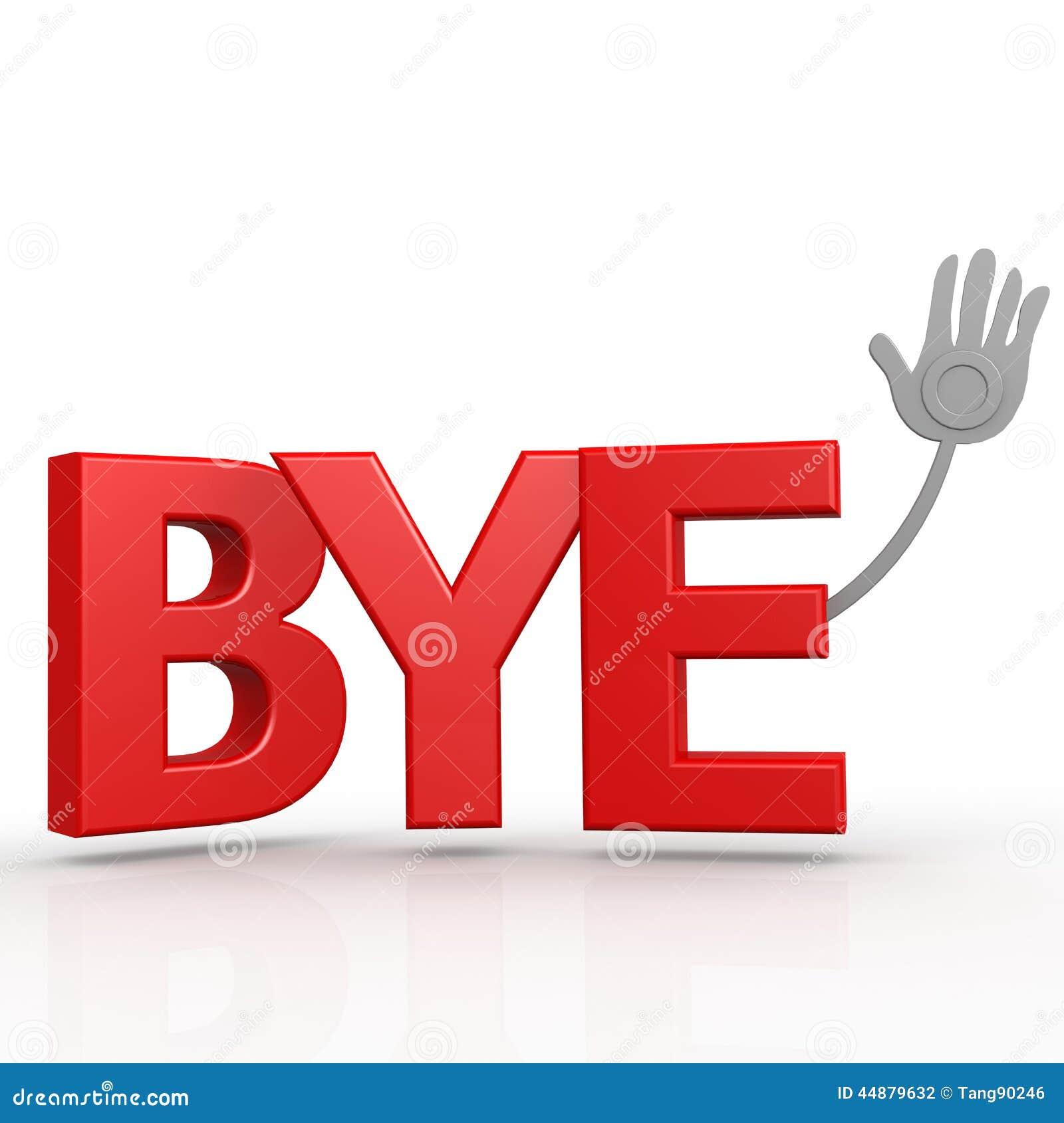 bye word stock illustration illustration of used greeting 44879632
