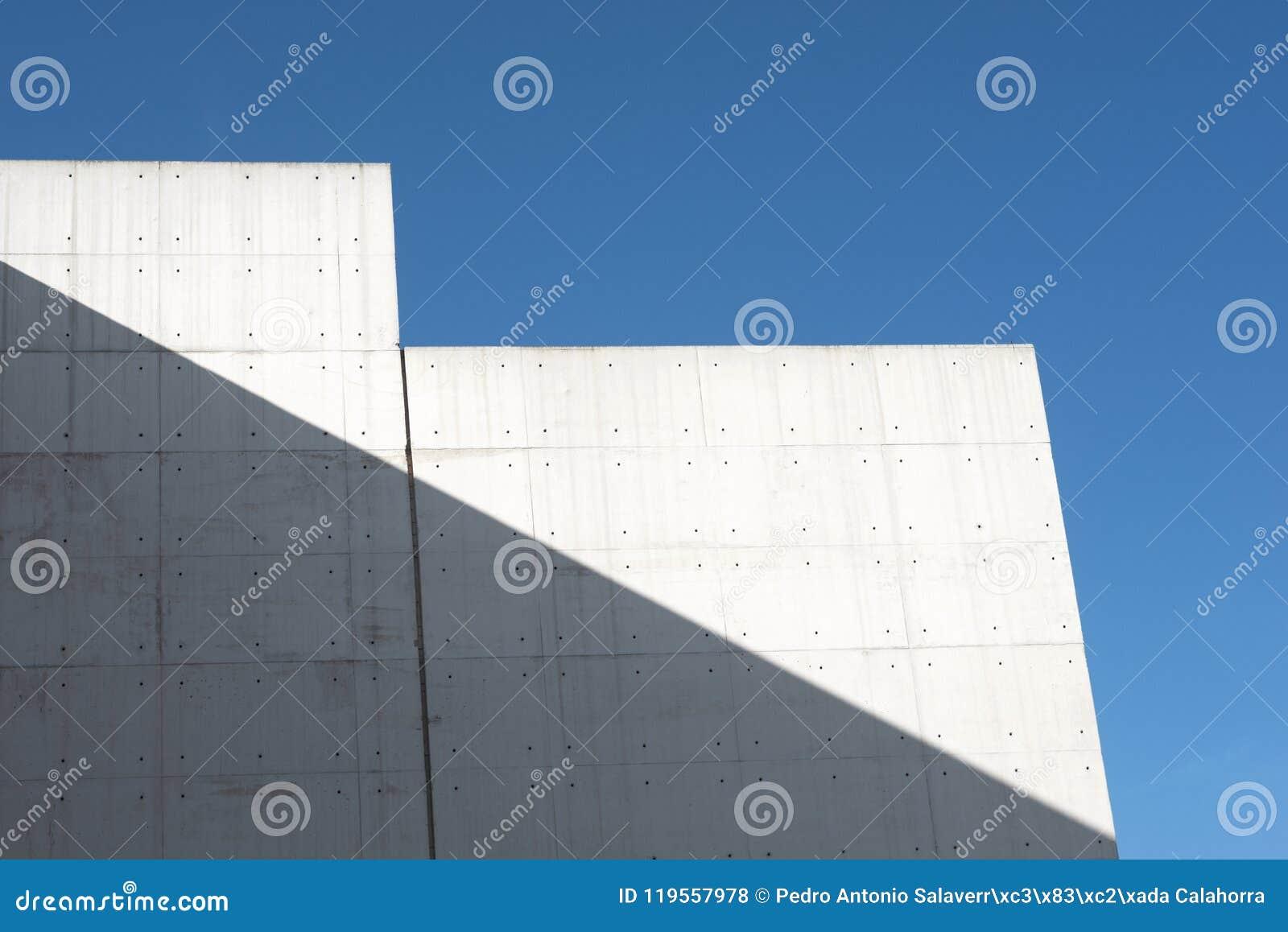 Byggande konkret modernt