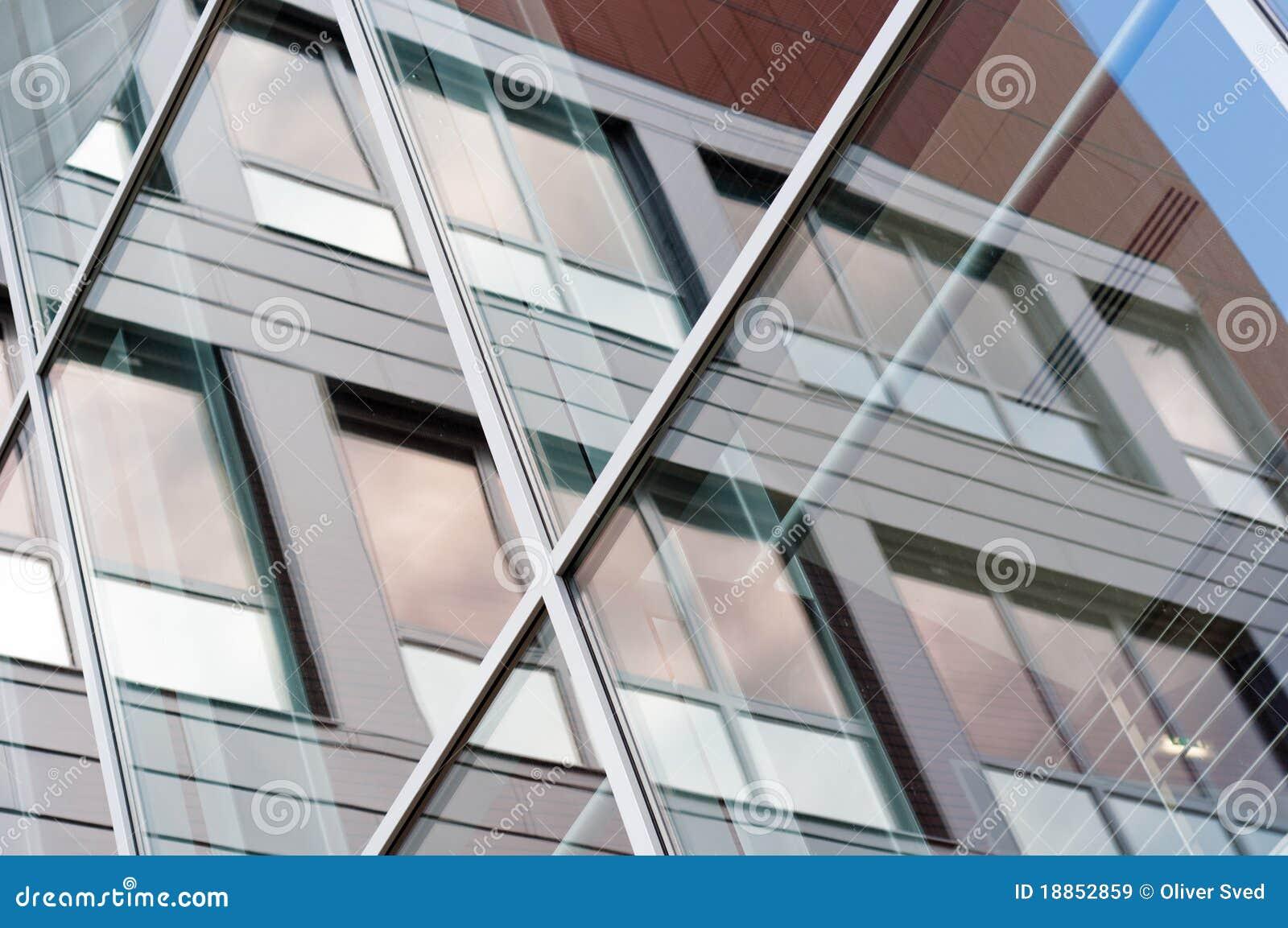Byggande modernt fönster