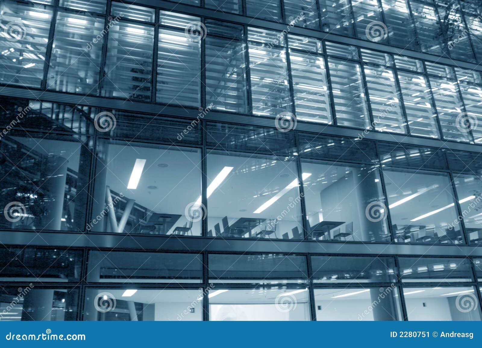 Byggande modernt kontor