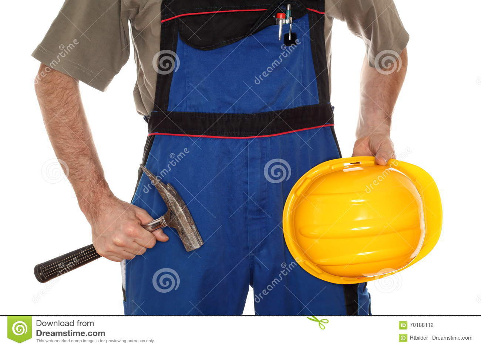 Byggmästare med hammaren