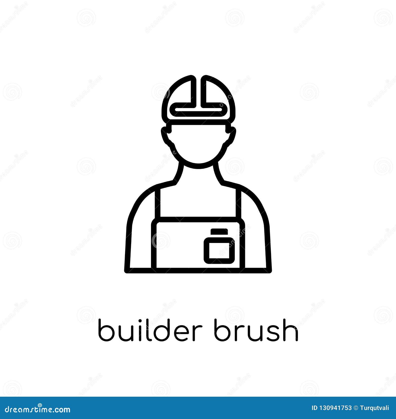ByggmästareBrush symbol Moderiktig modern plan linjär vektorbyggmästare Bru