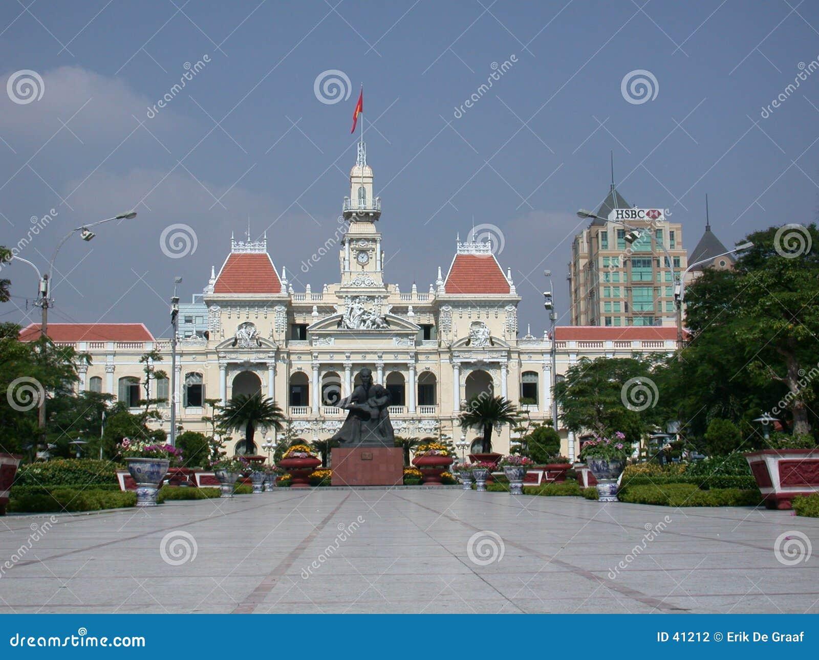 Byggnad koloniala franska vietnam