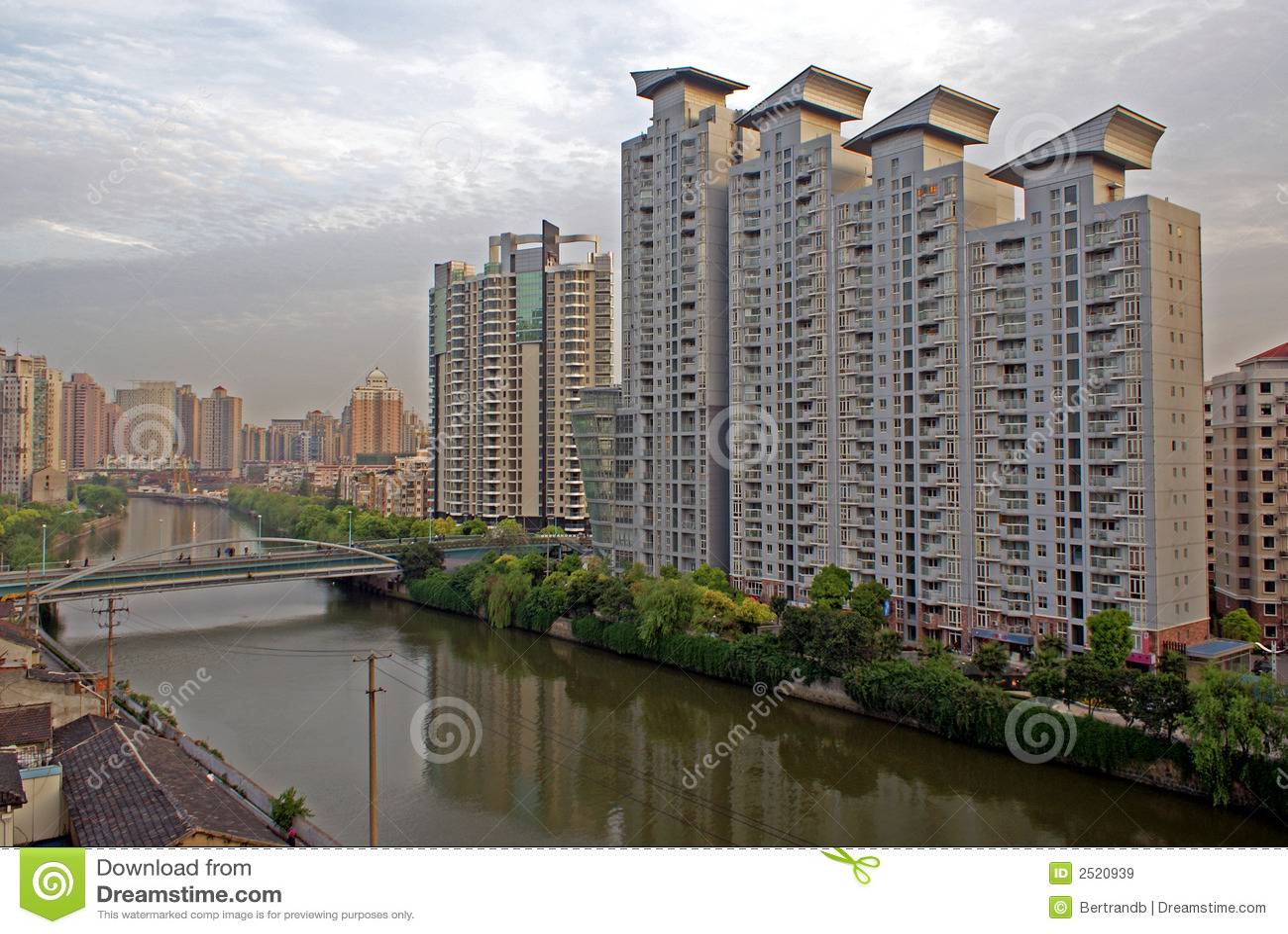 Byggnader moderna shanghai