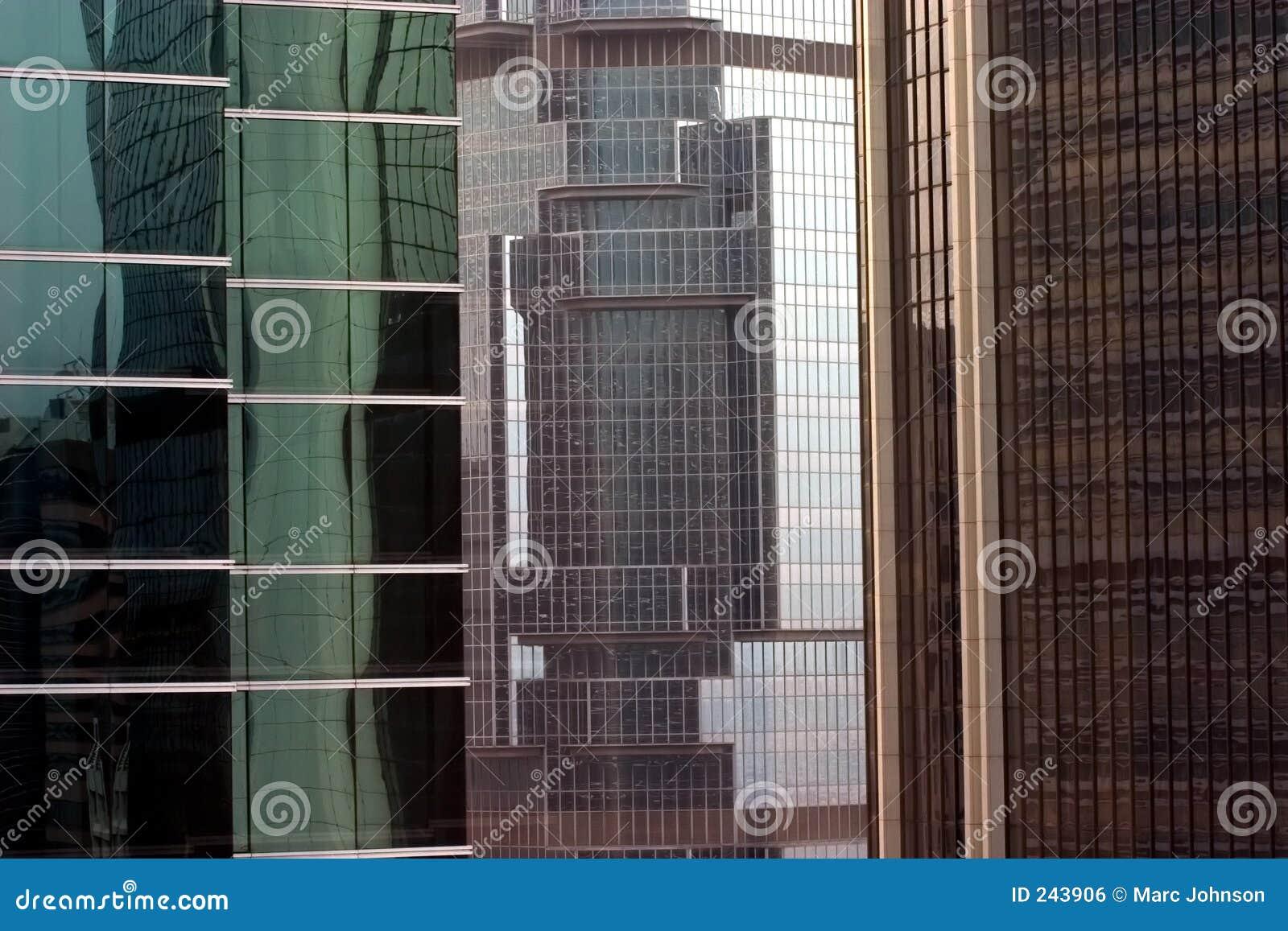 Byggnadskontor högväxt tre