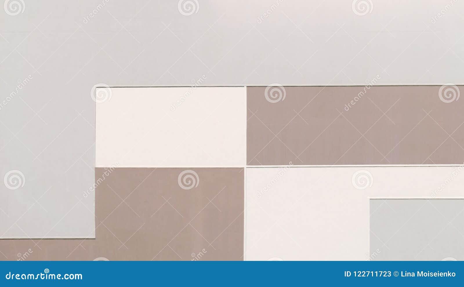 Byggnadsvägg i pastellfärgade färger, geometrisk abstrakt bakgrund