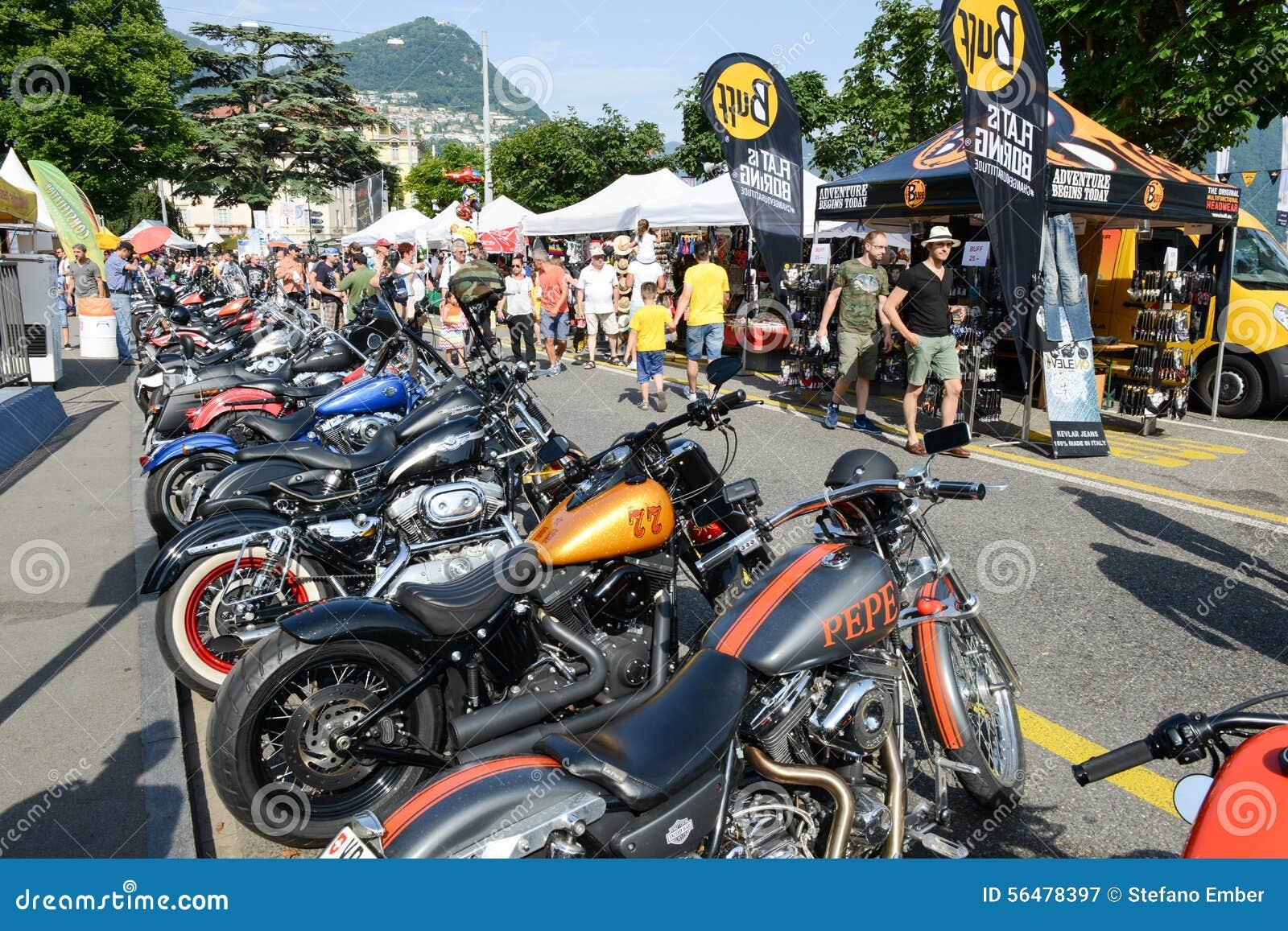 Bykers du défilé à Harley Days suisse à Lugano sur Switz