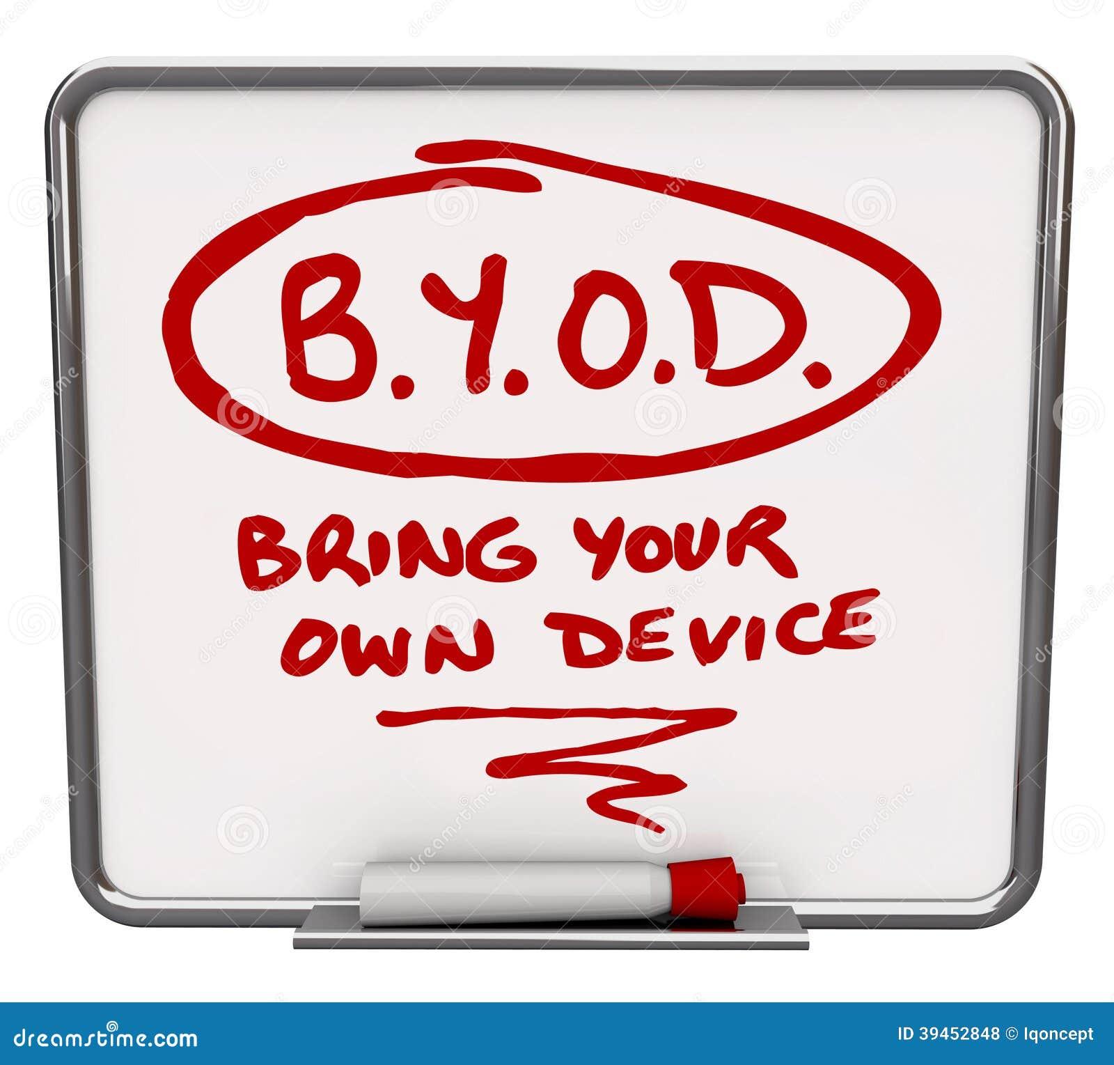 BYOD-het het Bedrijfbeleid van de Berichtraad brengt Uw Eigen Apparaat