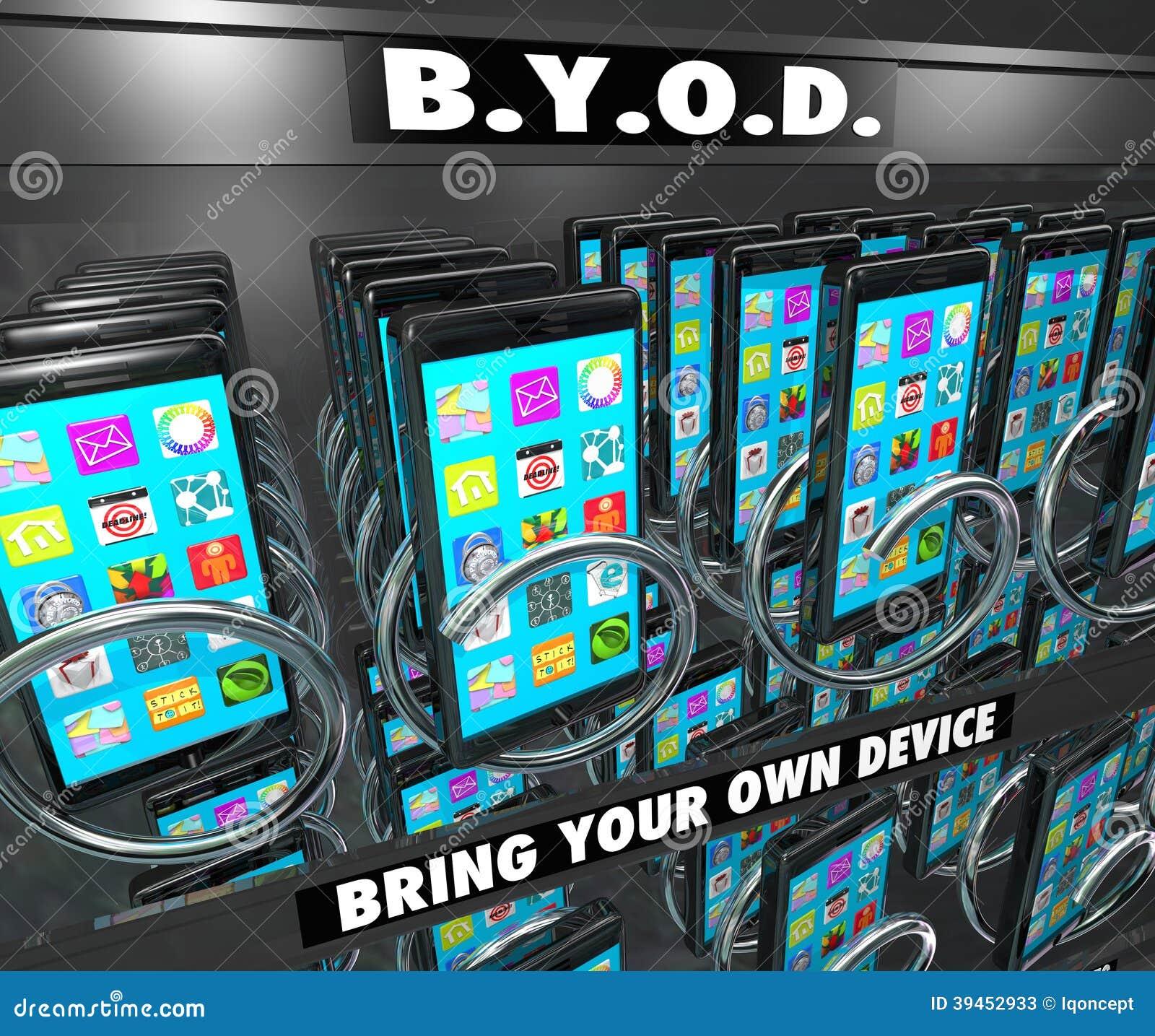 BYOD telefonu komórkowego Mądrze automat Przynosi Twój Swój przyrząd
