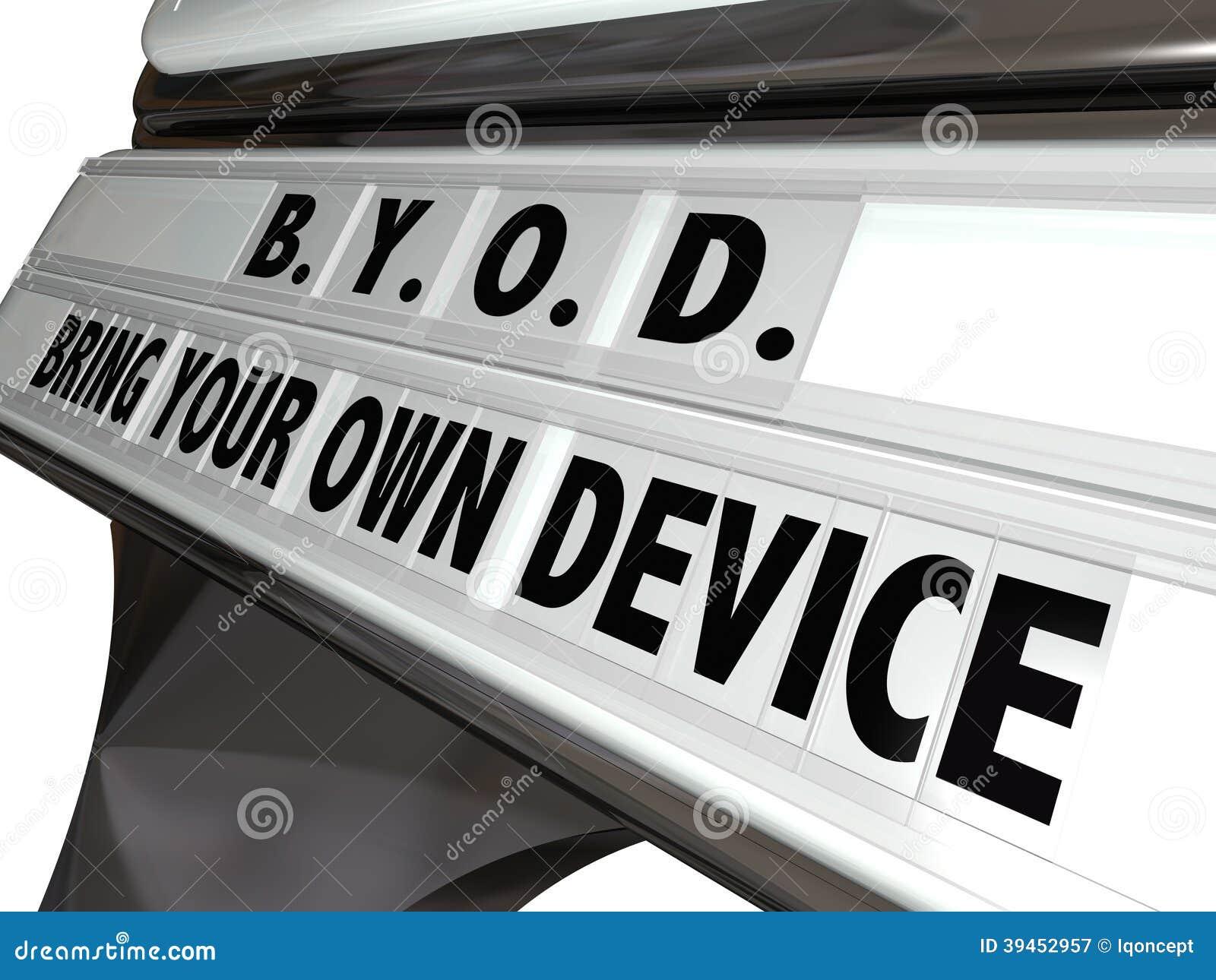 BYOD traen su propio lugar de trabajo Job Policy de la muestra del dispositivo