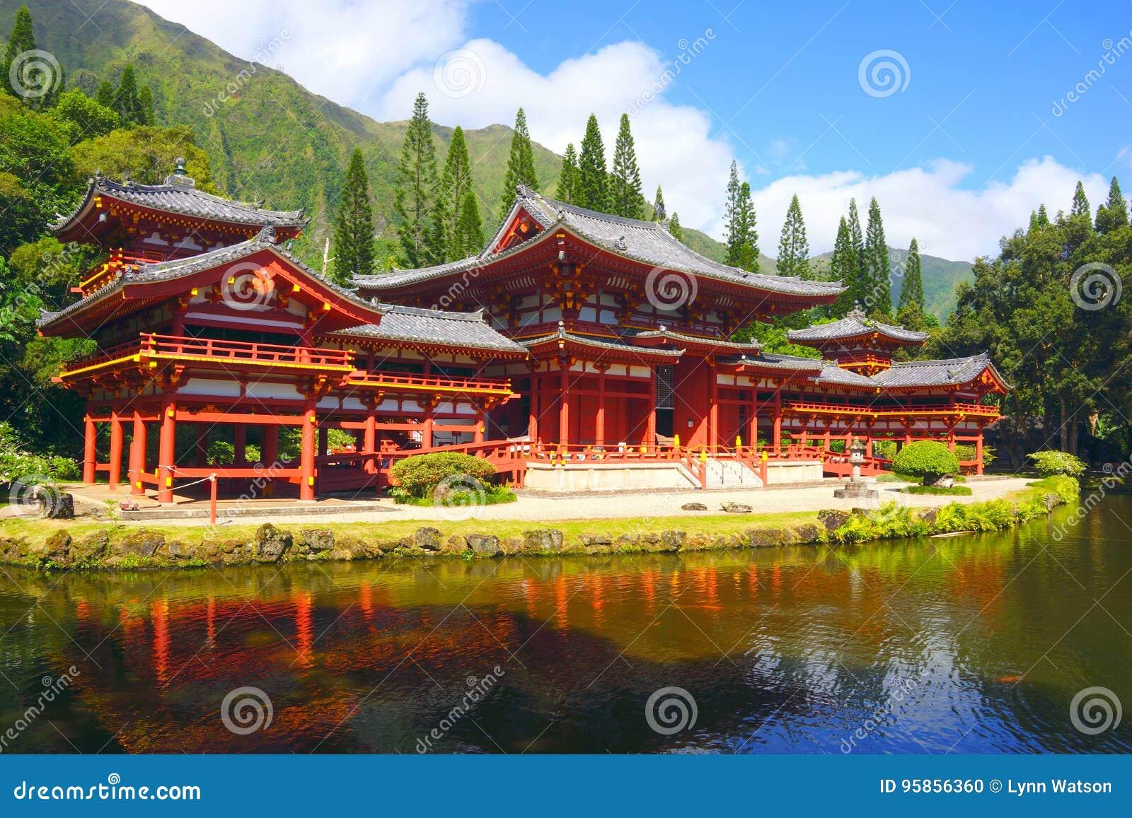 Byodo-en el templo budista en el valle de los templos, Kaneohe, Oahu