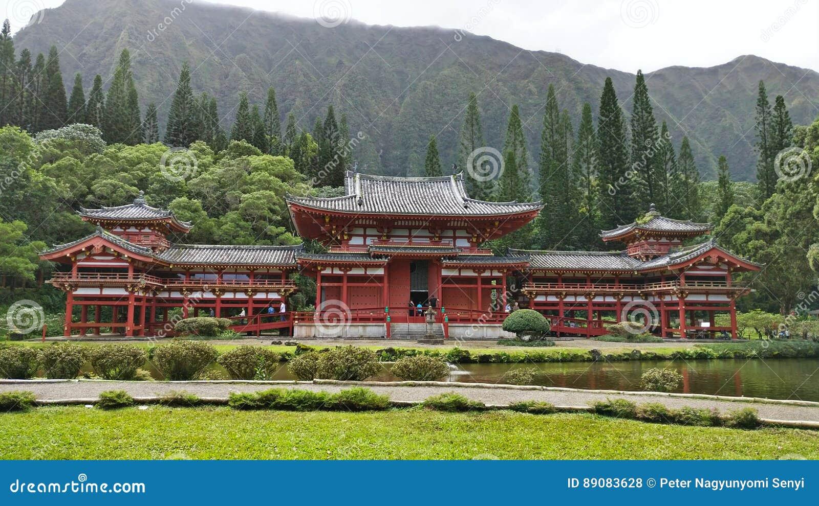 Byodo-no templo, vale dos templos, Oahu, Havaí