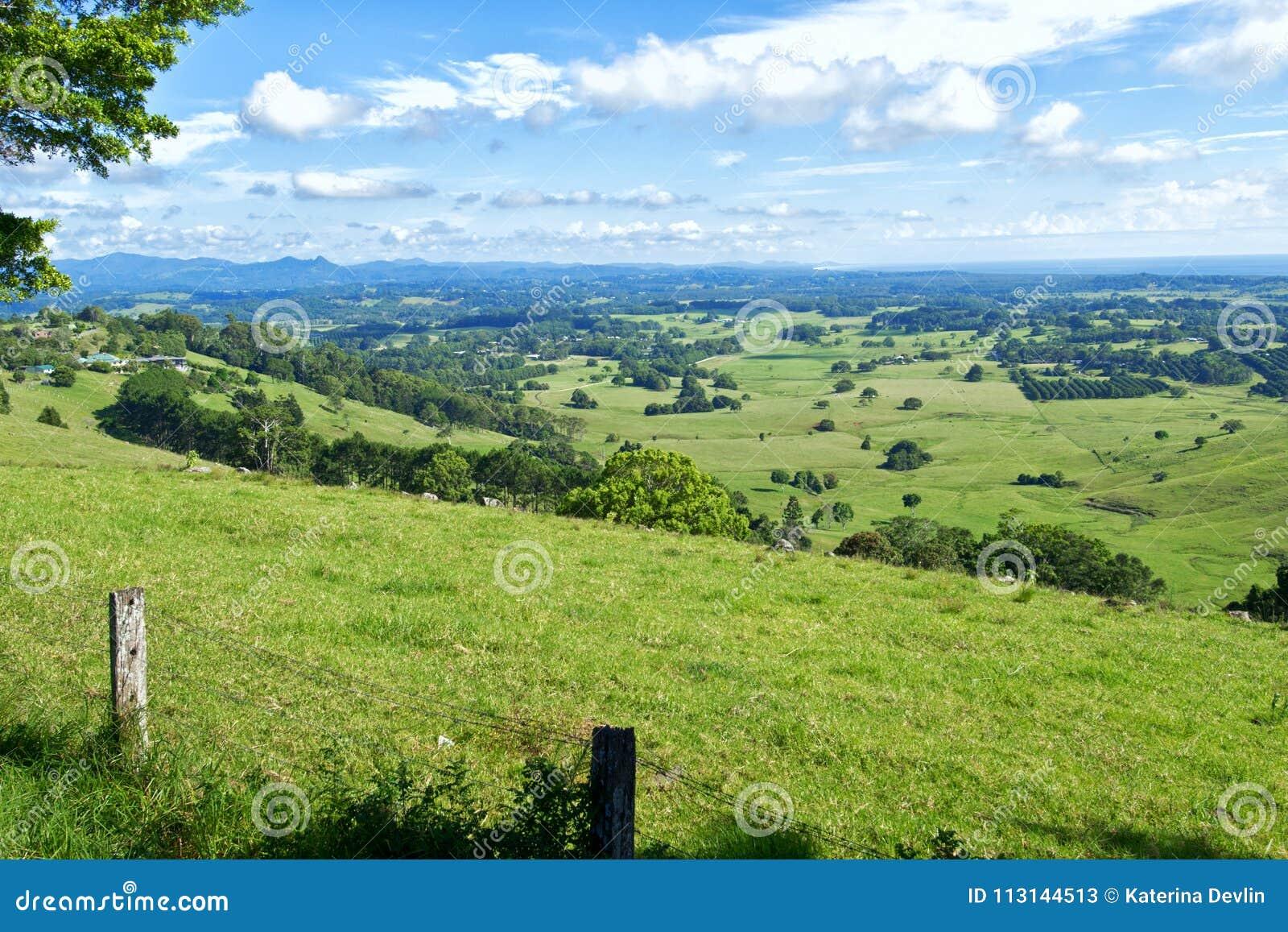 Byron Shire-landschap in sumer