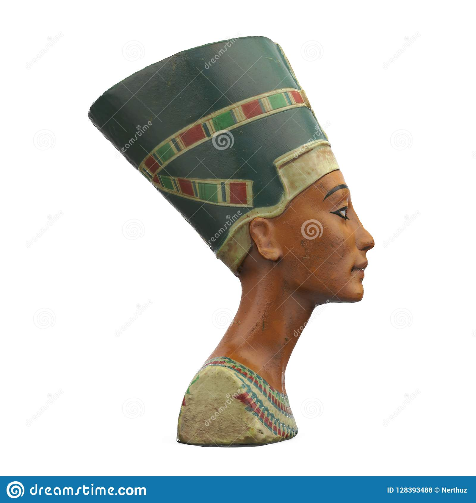 Byst av drottningen Nefertiti Isolated