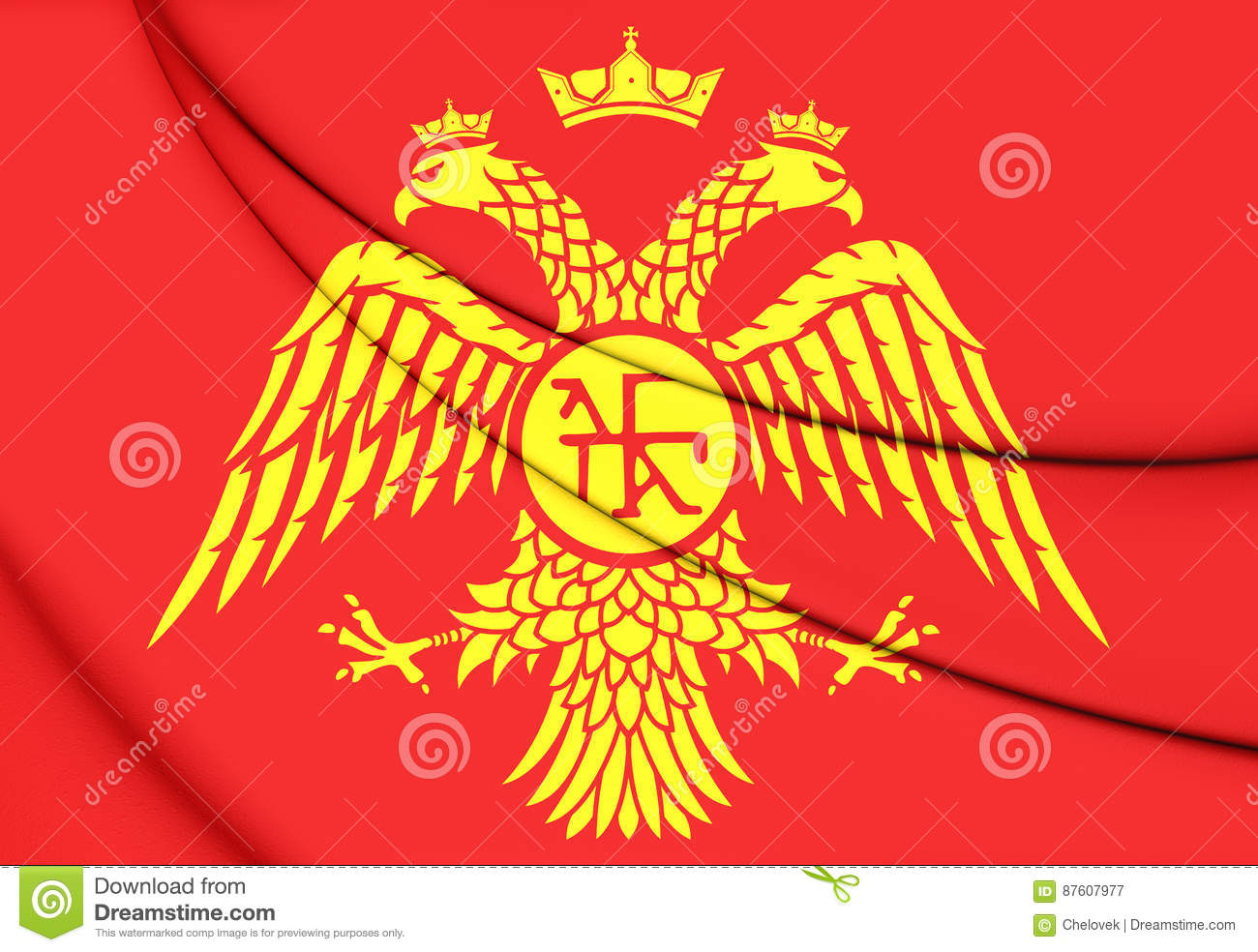 byzantine eagle flag of palaiologos dynasty stock illustration