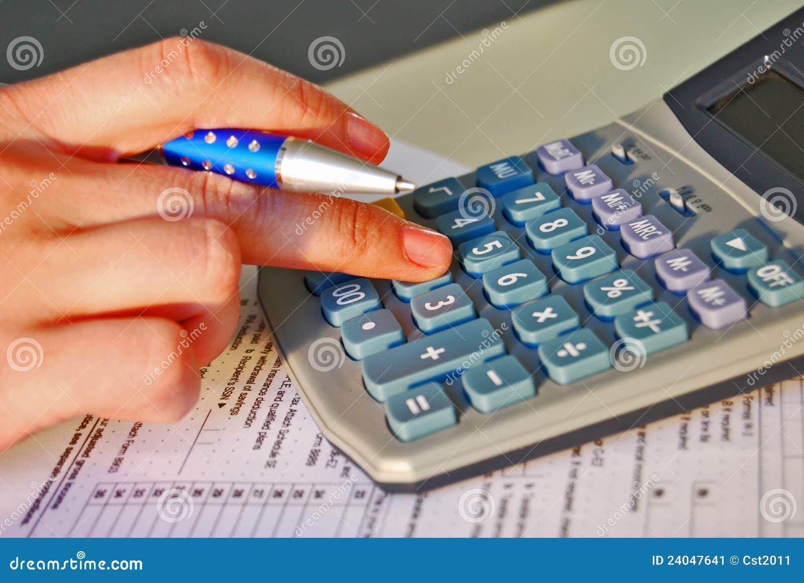 Cálculo Del Impuesto Sobre La Renta Stock de ilustración ...