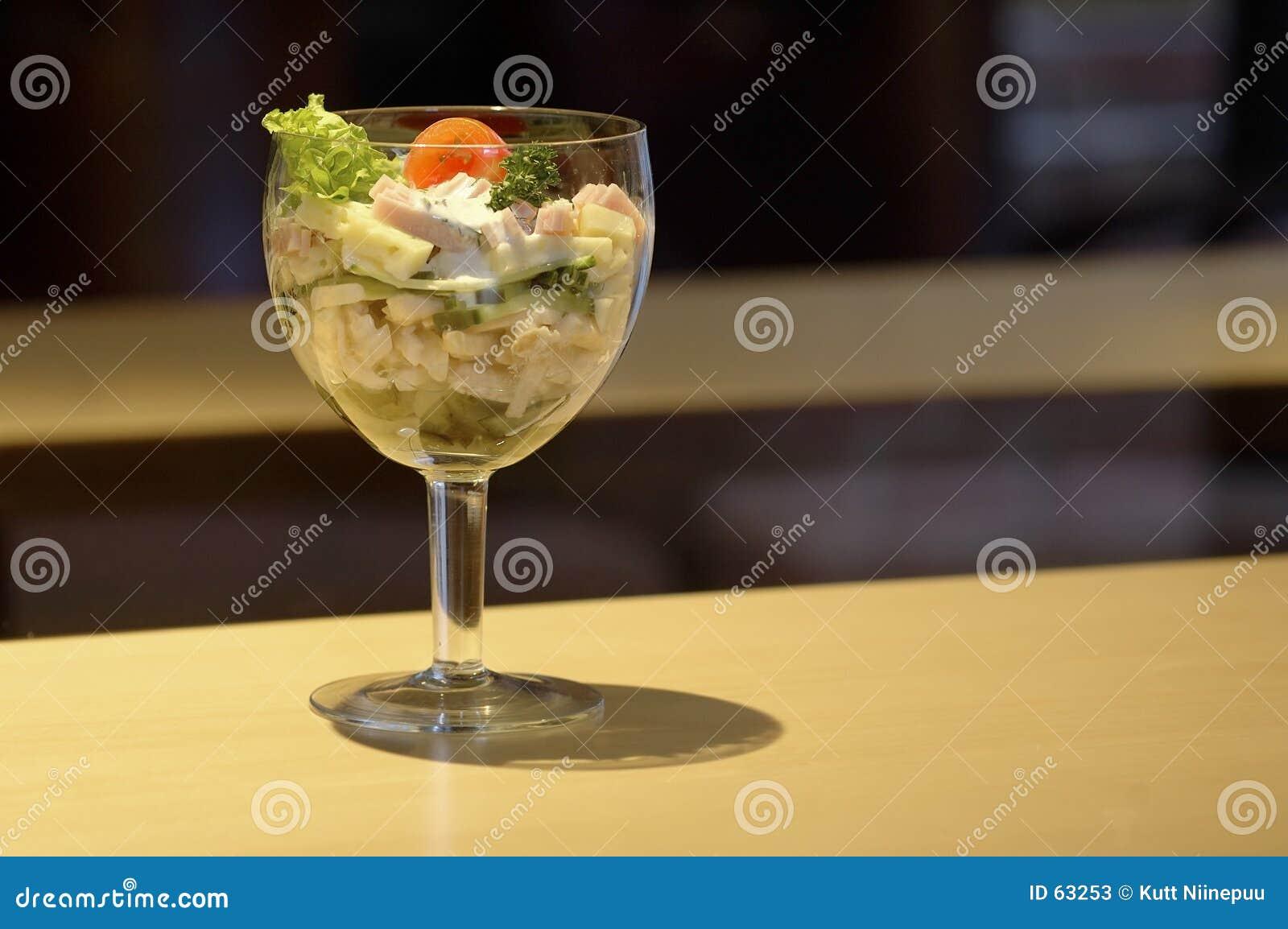 Cálice da salada do queijo