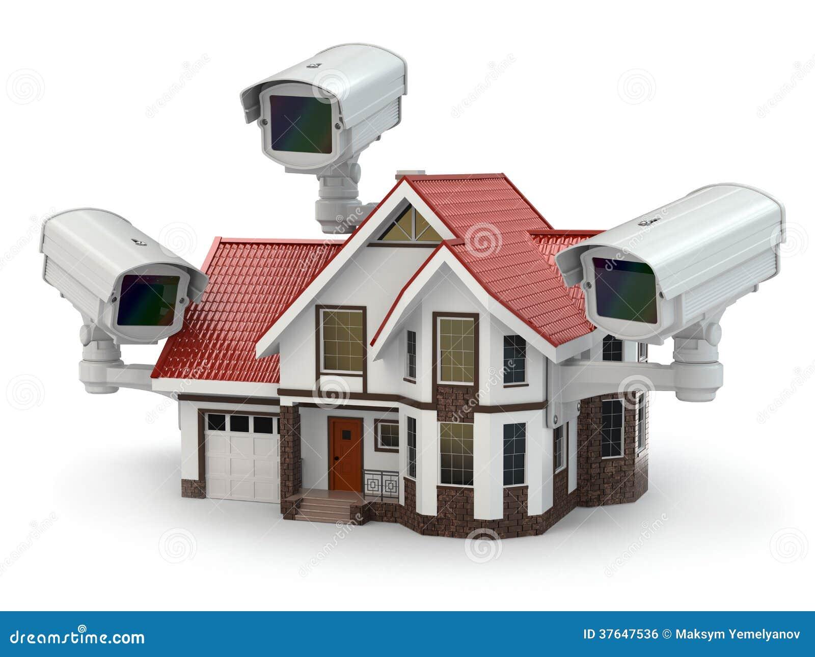 C mara cctv de la seguridad en la casa imagen de archivo - Seguridad en tu casa ...