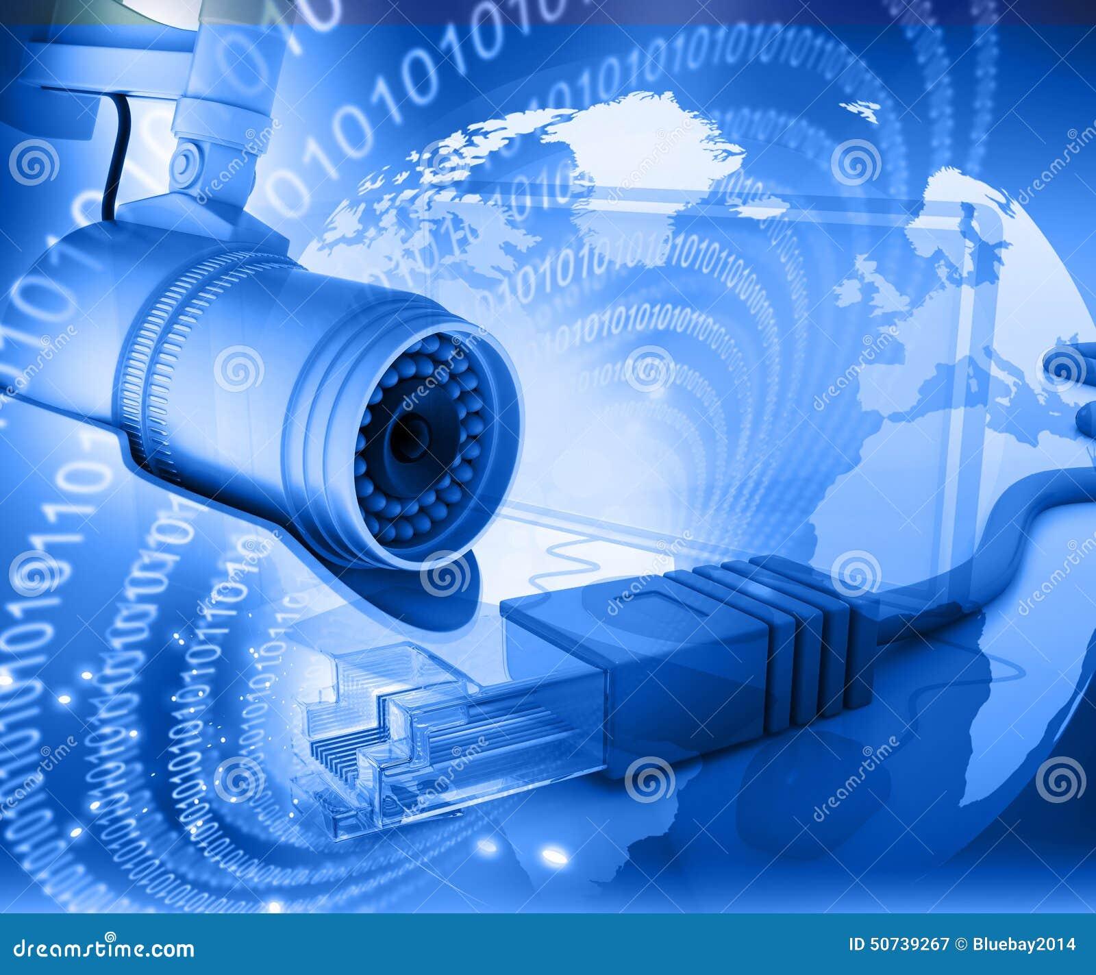C mara de vigilancia con el mundo digital imagen de - Video camaras vigilancia ...