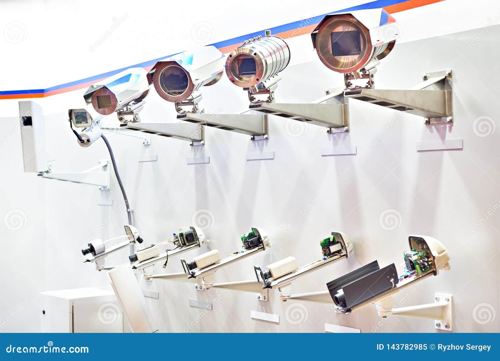 Cámaras CCTV con la cubierta terma
