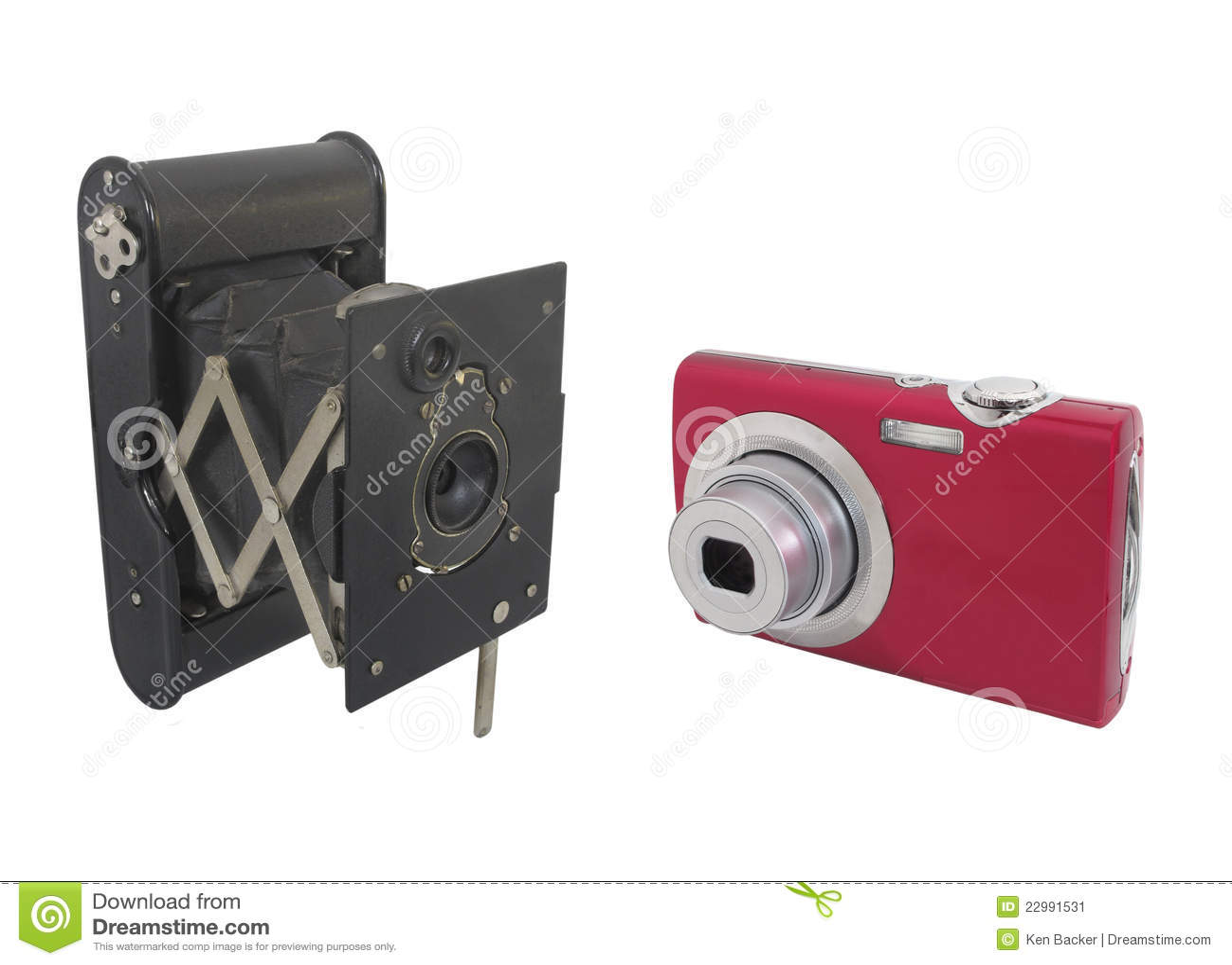 C maras modernas y antiguas aisladas imagen de archivo for Cosas modernas para el hogar
