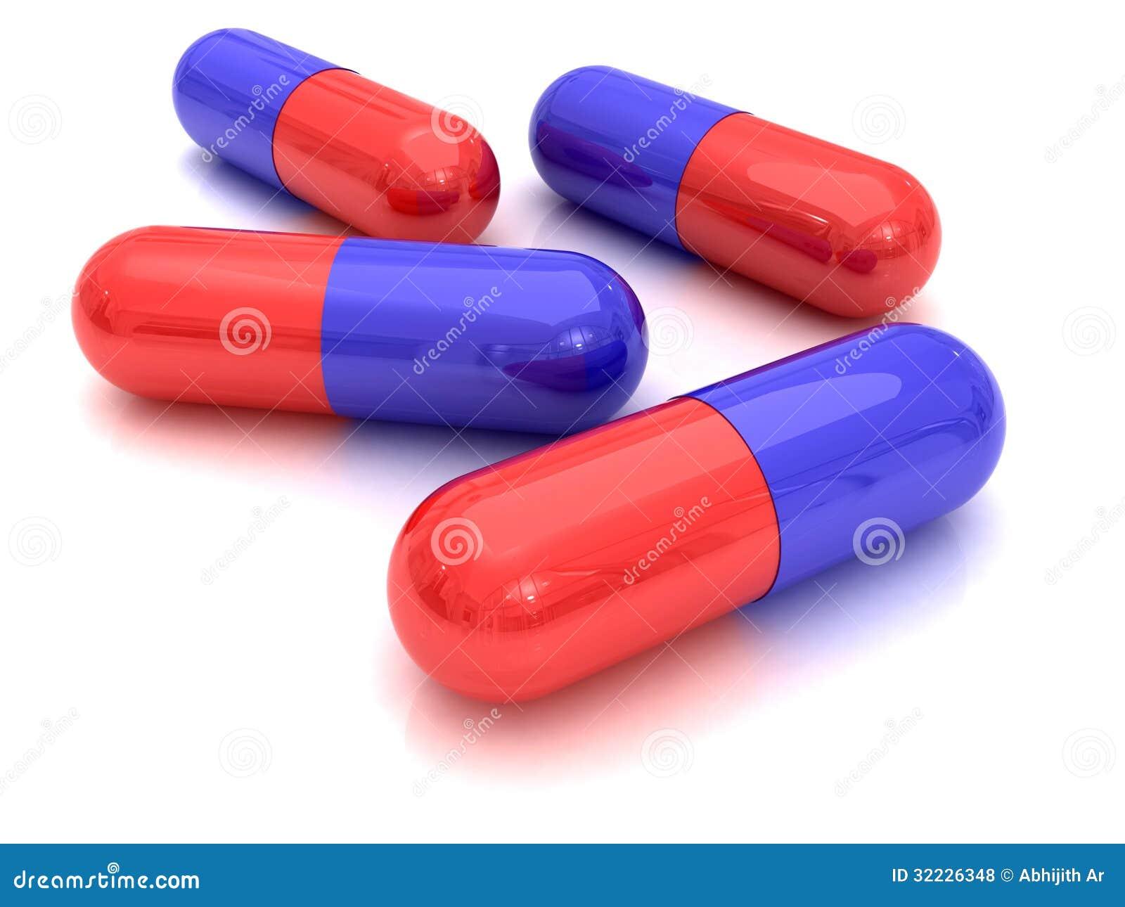 Download Cápsula ilustração stock. Ilustração de ailment, vermelho - 32226348