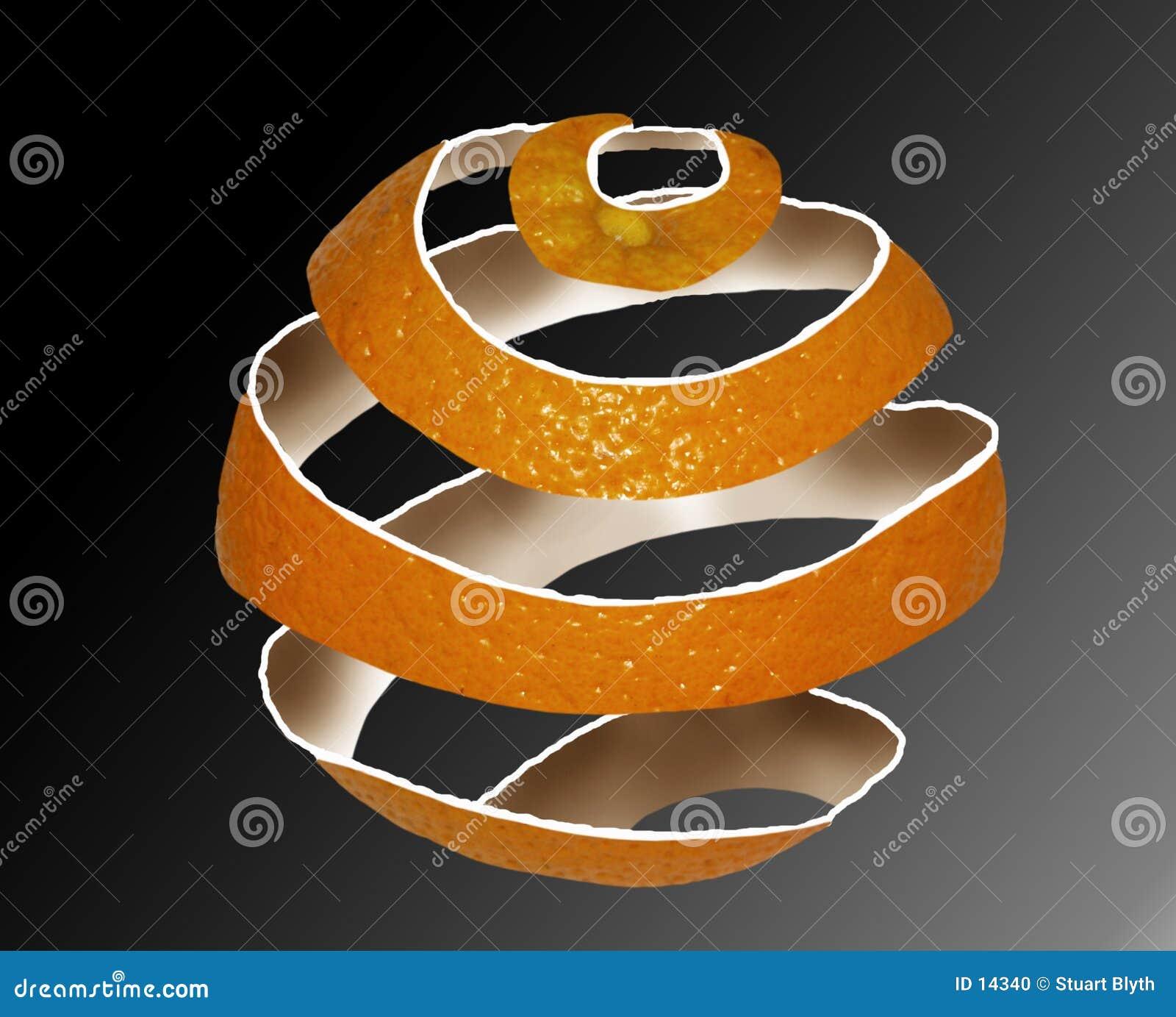 Cáscara anaranjada