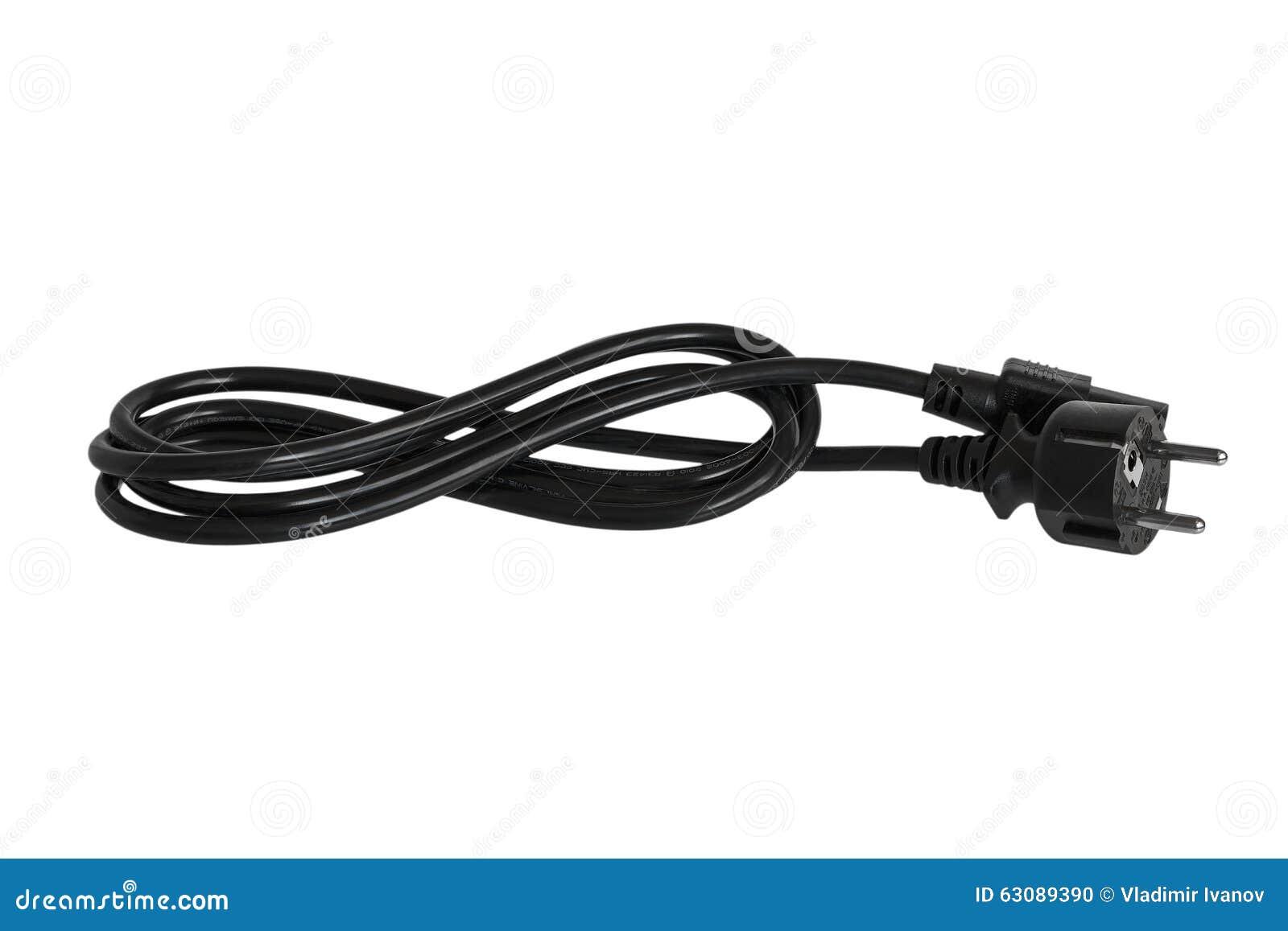 Download Câble électrique Pour L'ordinateur Photo stock - Image du fourchette, ordinateur: 63089390