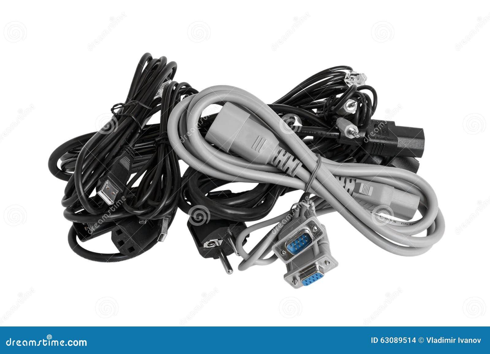 Download Câble électrique Pour L'ordinateur Photo stock - Image du connexion, énergie: 63089514