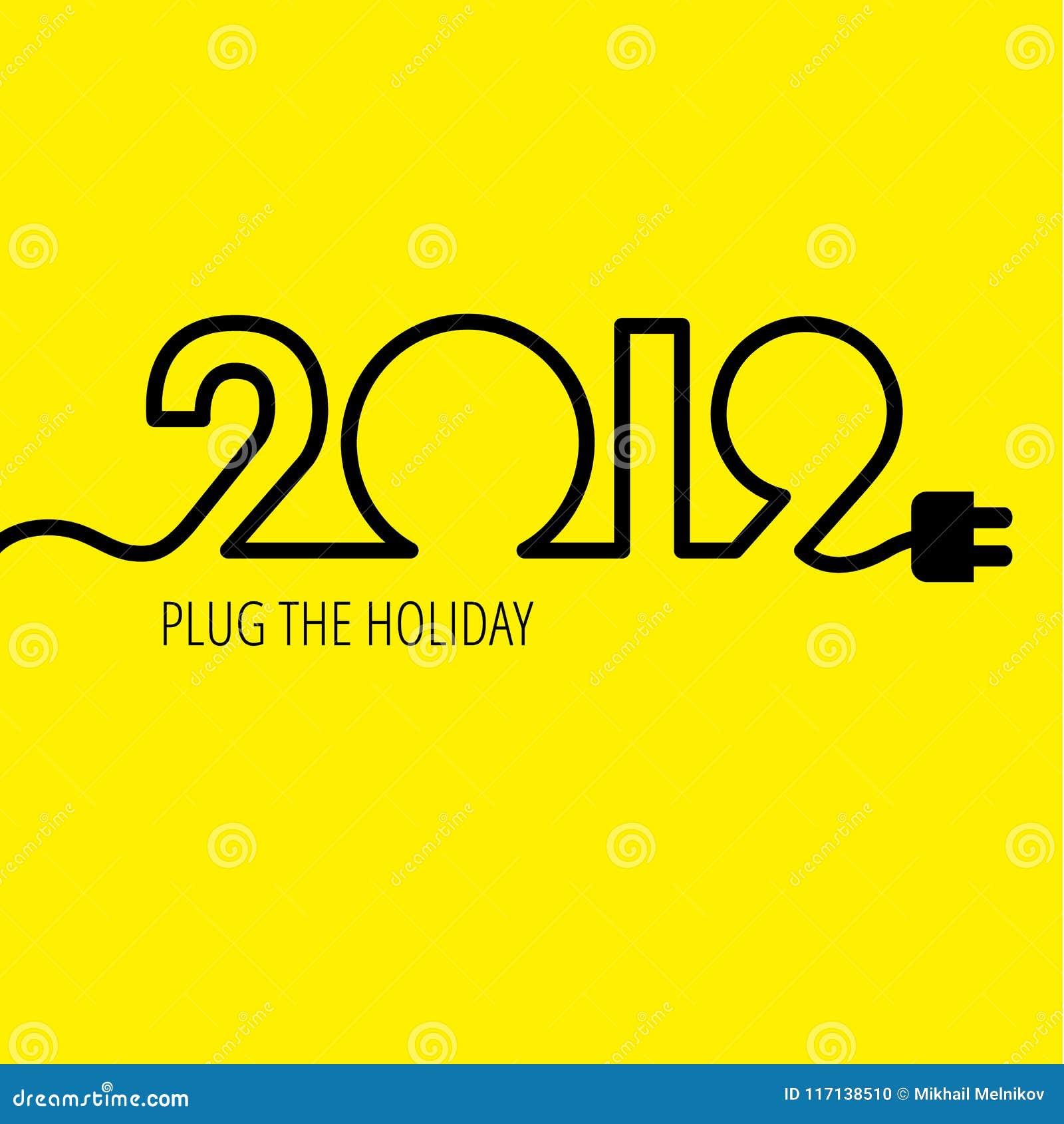 Câble électrique sous forme de numéros 2019