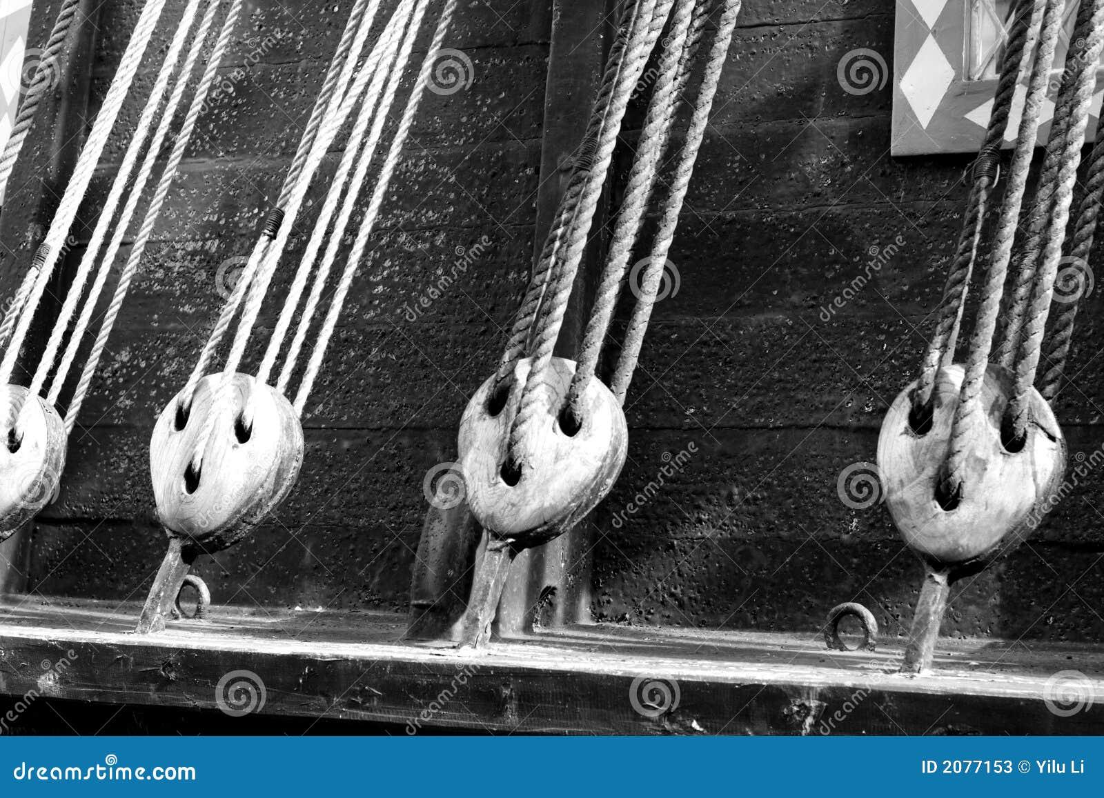 Câbles d un bateau antique