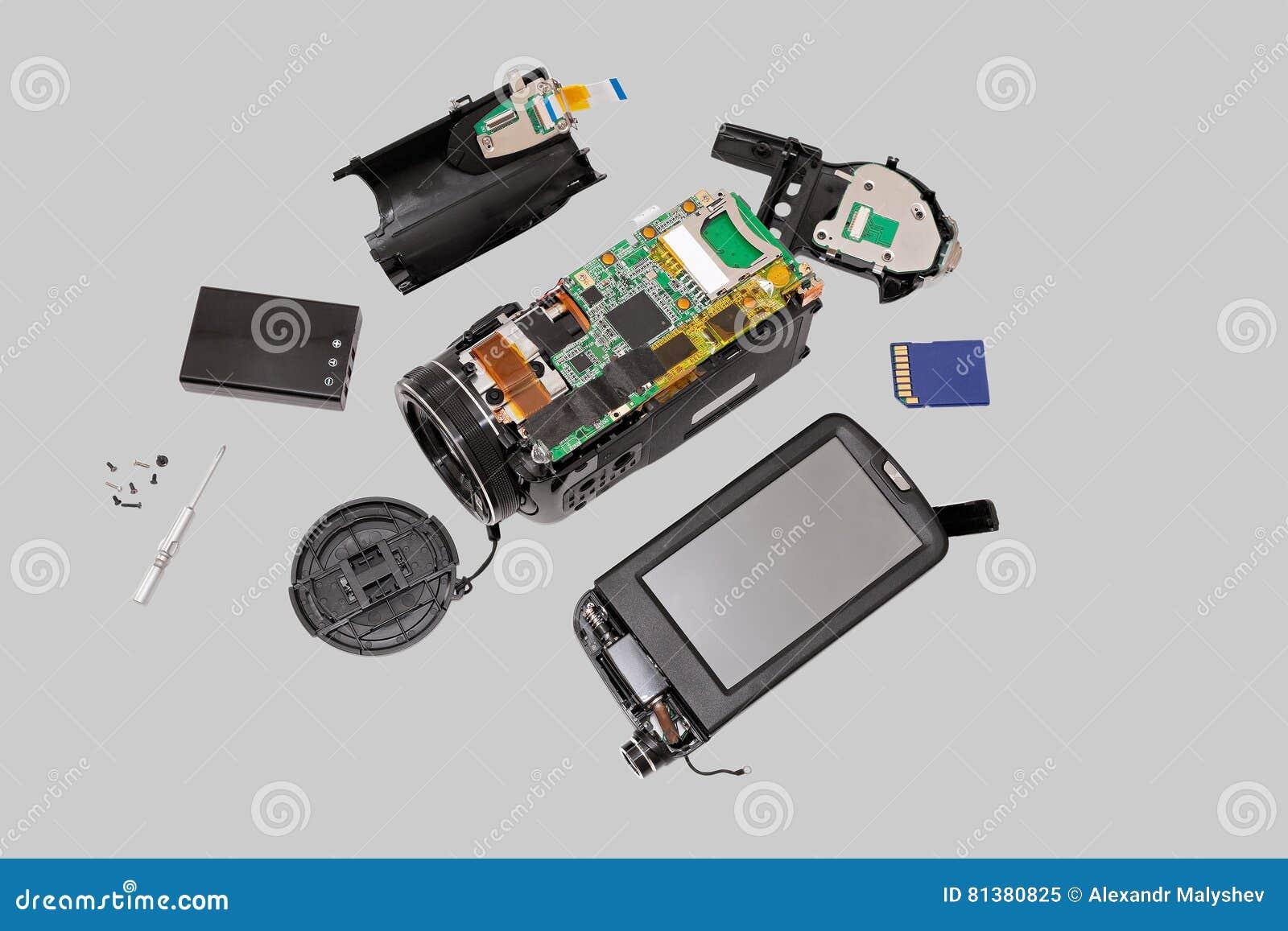 Câmara de vídeo eletrônica da placa