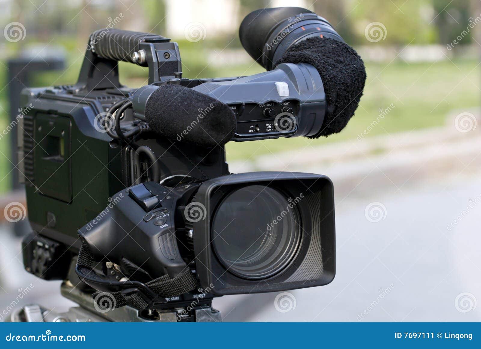 Câmara de vídeo profissional.