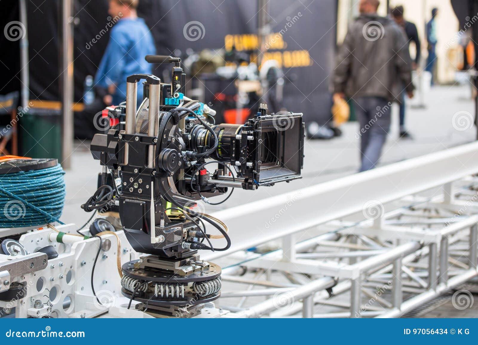 Câmara de vídeo profissional grande