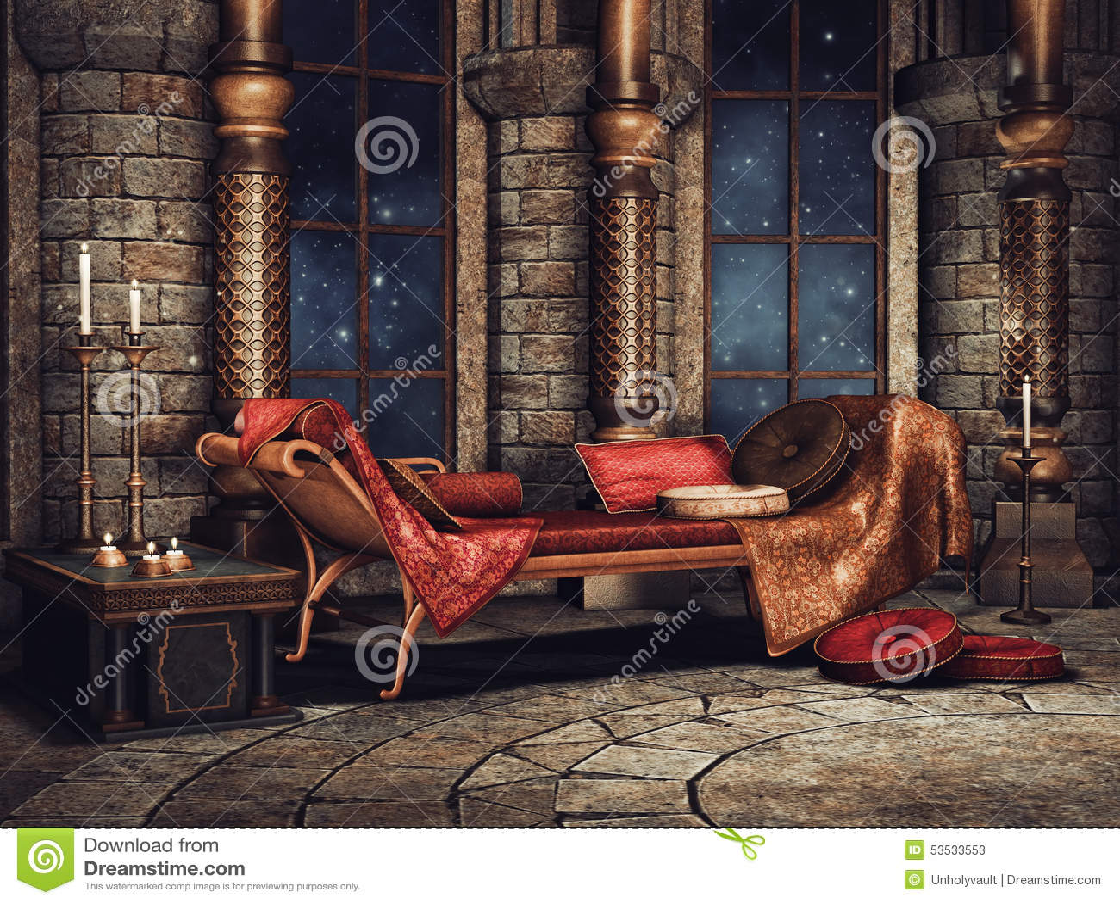 Câmara do palácio da fantasia