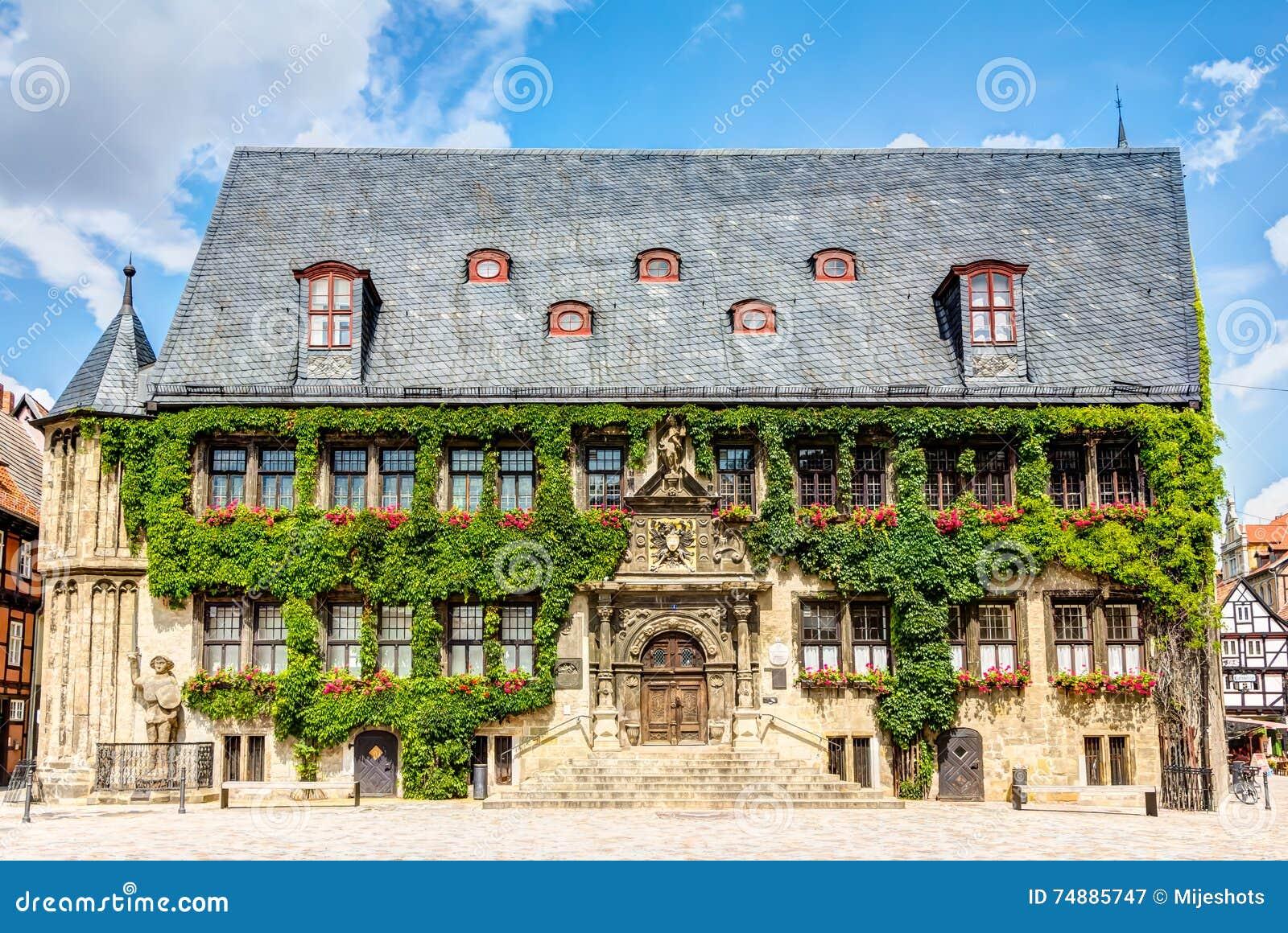 Câmara municipal em Quedlinburg, Alemanha