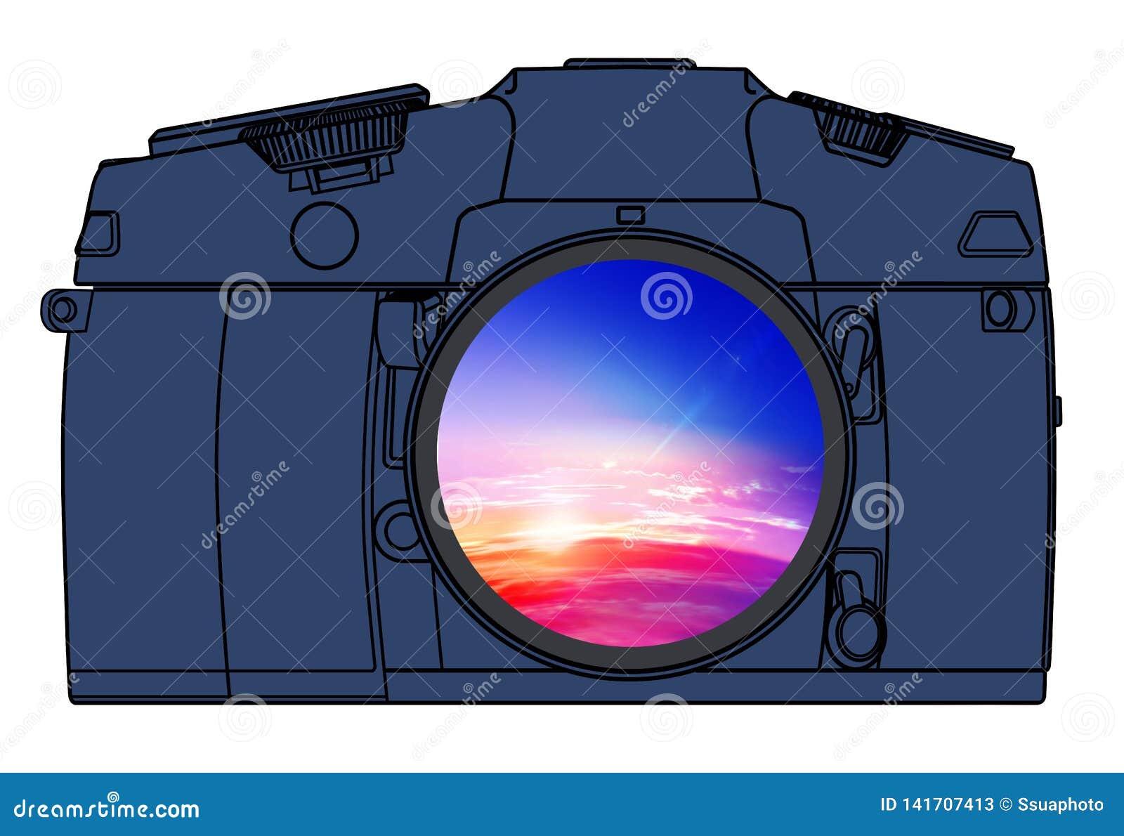 Câmera da foto isolada