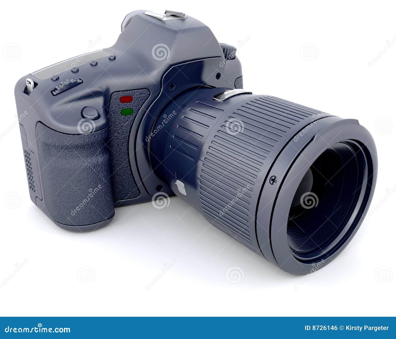 Câmera de Digitas SLR com zoom Lense do Telephoto