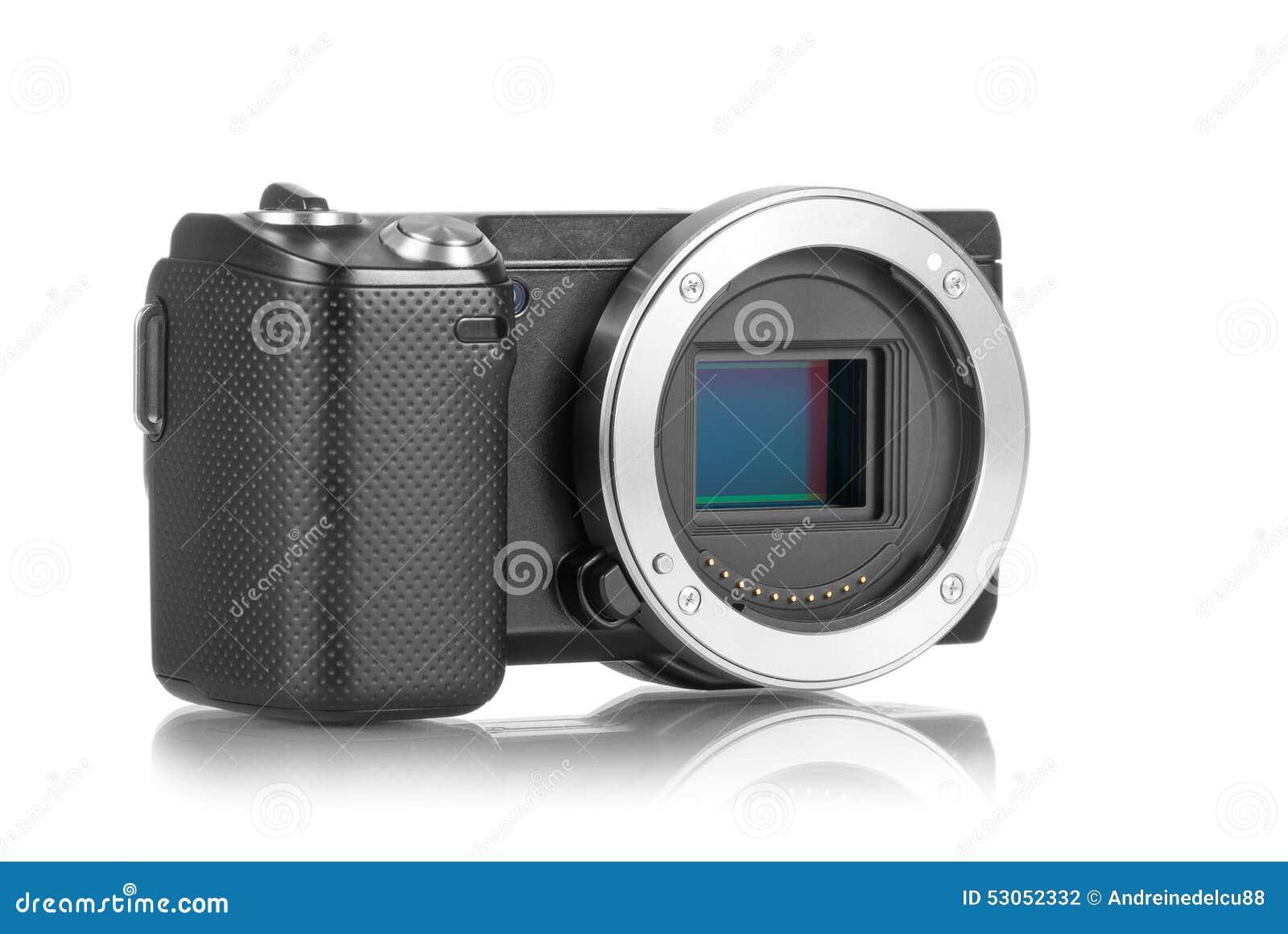 Câmera de Mirrorless sem lente